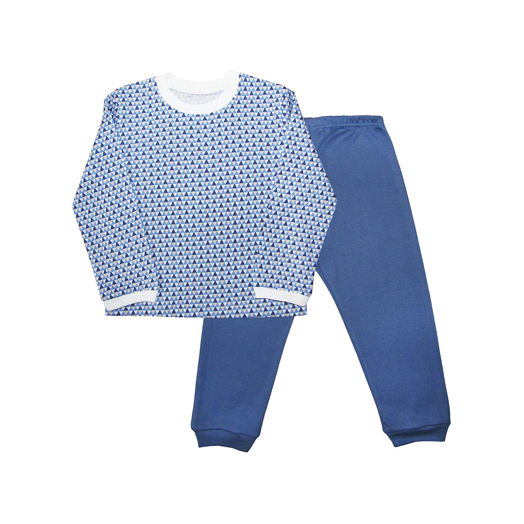 Пижама для мальчика Веселый малышПижамы и сорочки<br>Пижама из интерлока (пенье).<br>Состав:<br>100% Хлопок<br><br>Ширина мм: 196<br>Глубина мм: 10<br>Высота мм: 154<br>Вес г: 152<br>Цвет: голубой<br>Возраст от месяцев: 12<br>Возраст до месяцев: 18<br>Пол: Мужской<br>Возраст: Детский<br>Размер: 86,116,92,98,104,110<br>SKU: 5063097