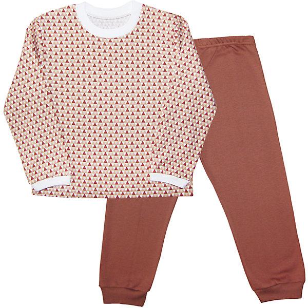 Пижама для мальчика Веселый малышПижамы и сорочки<br>Пижама из интерлока (пенье).<br>Состав:<br>100% Хлопок<br><br>Ширина мм: 196<br>Глубина мм: 10<br>Высота мм: 154<br>Вес г: 152<br>Цвет: коричневый<br>Возраст от месяцев: 12<br>Возраст до месяцев: 18<br>Пол: Мужской<br>Возраст: Детский<br>Размер: 86,116,110,104,98,92<br>SKU: 5063104