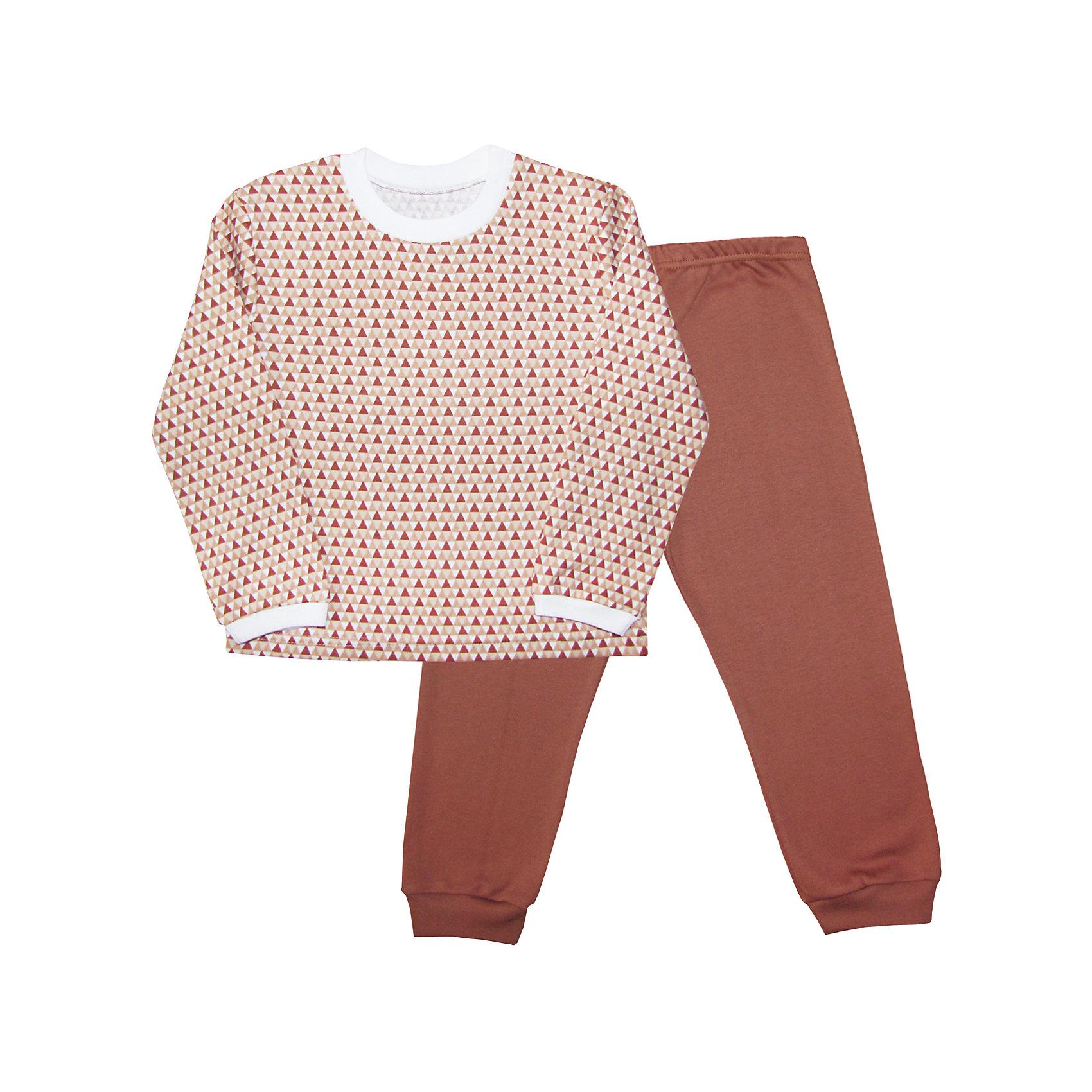 Пижама для мальчика Веселый малышПижамы и сорочки<br>Пижама из интерлока (пенье).<br>Состав:<br>100% Хлопок<br><br>Ширина мм: 196<br>Глубина мм: 10<br>Высота мм: 154<br>Вес г: 152<br>Цвет: коричневый<br>Возраст от месяцев: 12<br>Возраст до месяцев: 18<br>Пол: Мужской<br>Возраст: Детский<br>Размер: 86,116,92,98,104,110<br>SKU: 5063104