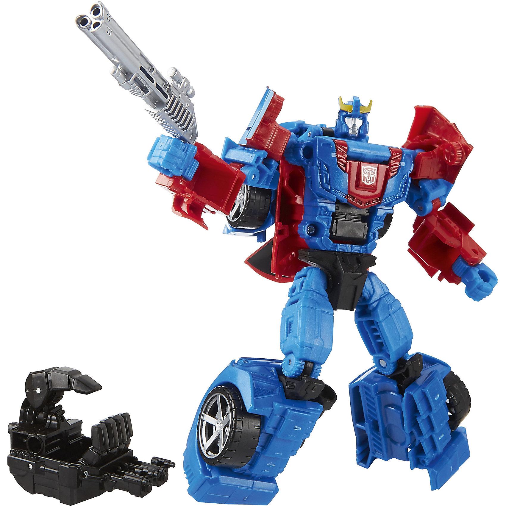 Дженерэйшнс Делюкс, Трансформеры, B0974/B5607Характеристики Дженерэйшнс Делюкс, Трансформеры:<br><br>- возраст: от 8 лет<br>- пол: для мальчиков и девочек<br>- цвет: красный, белый, синий.<br>- материал: пластик.<br>- размер самой игрушки высота: 12 см.<br>- упаковка: блистер на картоне<br>- размер упаковки: 7 * 26 * 19 см.<br>- страна обладатель бренда: США.<br><br><br>Трансформер Мегатрон из серии Дженерэйшнс Дэлюкс - это детально проработанная фигурка робота, которая очень похожа на своего героя из мультфильма. Робот Megatron при помощи сложной, но увлекательной трансформации, которая содержит 15 ступеней, превращается в боевую машину - танк. Руки, ноги, голова робота-трансформера легко двигаются, вследствие чего он может принимать различные позы. В комплекте имеется два разных оружия, одно из них стреляет.<br><br>Трансформер серии Generation Deluxe (Дженерэйшнс Делюкс) торговой марки Hasbro (Хасбо) можно купить в нашем магазине.<br><br>Ширина мм: 255<br>Глубина мм: 190<br>Высота мм: 65<br>Вес г: 190<br>Возраст от месяцев: 60<br>Возраст до месяцев: 120<br>Пол: Мужской<br>Возраст: Детский<br>SKU: 5064163