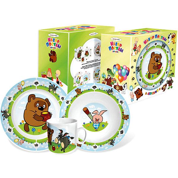 Набор детской посуды Винни ПухДетская посуда<br>Набор посуды дет. Винни Пух (ф-р-Д)<br>Ширина мм: 200; Глубина мм: 200; Высота мм: 120; Вес г: 960; Возраст от месяцев: 36; Возраст до месяцев: 144; Пол: Унисекс; Возраст: Детский; SKU: 5064200;