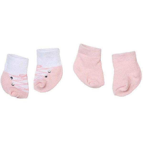 Носочки 2 пары, розовые, Baby AnnabellОдежда для кукол<br>Носочки для куклы Baby Annabell, 2 пары.<br><br>Характеристики комплекта Zapf Creation:<br><br>• количество в упаковке: 2 пары;<br>• цвет: розовый и белый с розовым;<br>• особенность носочков: тянутся;<br>• носочки предназначены для кукол высотой 46 см;<br>• материал: мягкий текстиль;<br>• размер упаковки: 18х1х13 см;<br>• вес упаковки: 50 г.<br><br>Носочки 2 пары, розовые, Baby Annabell можно купить в нашем интернет-магазине.<br><br>Ширина мм: 130<br>Глубина мм: 180<br>Высота мм: 10<br>Вес г: 50<br>Возраст от месяцев: 36<br>Возраст до месяцев: 2147483647<br>Пол: Женский<br>Возраст: Детский<br>SKU: 5064301