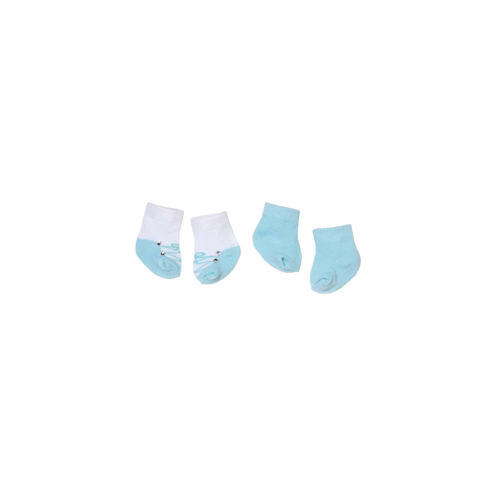 Носочки 2 пары, голубые, Baby AnnabellБренды кукол<br>Носочки для куклы Baby Annabell, 2 пары.<br><br>Характеристики комплекта Zapf Creation:<br><br>• количество в упаковке: 2 пары;<br>• цвет: голубой и белый с голубым;<br>• особенность носочков: тянутся;<br>• носочки предназначены для кукол высотой 46 см;<br>• материал: мягкий текстиль;<br>• размер упаковки: 18х1х13 см;<br>• вес упаковки: 50 г.<br><br>Носочки 2 пары, голубые, Baby Annabell можно купить в нашем интернет-магазине.<br><br>Ширина мм: 130<br>Глубина мм: 180<br>Высота мм: 10<br>Вес г: 50<br>Возраст от месяцев: 36<br>Возраст до месяцев: 2147483647<br>Пол: Женский<br>Возраст: Детский<br>SKU: 5064302