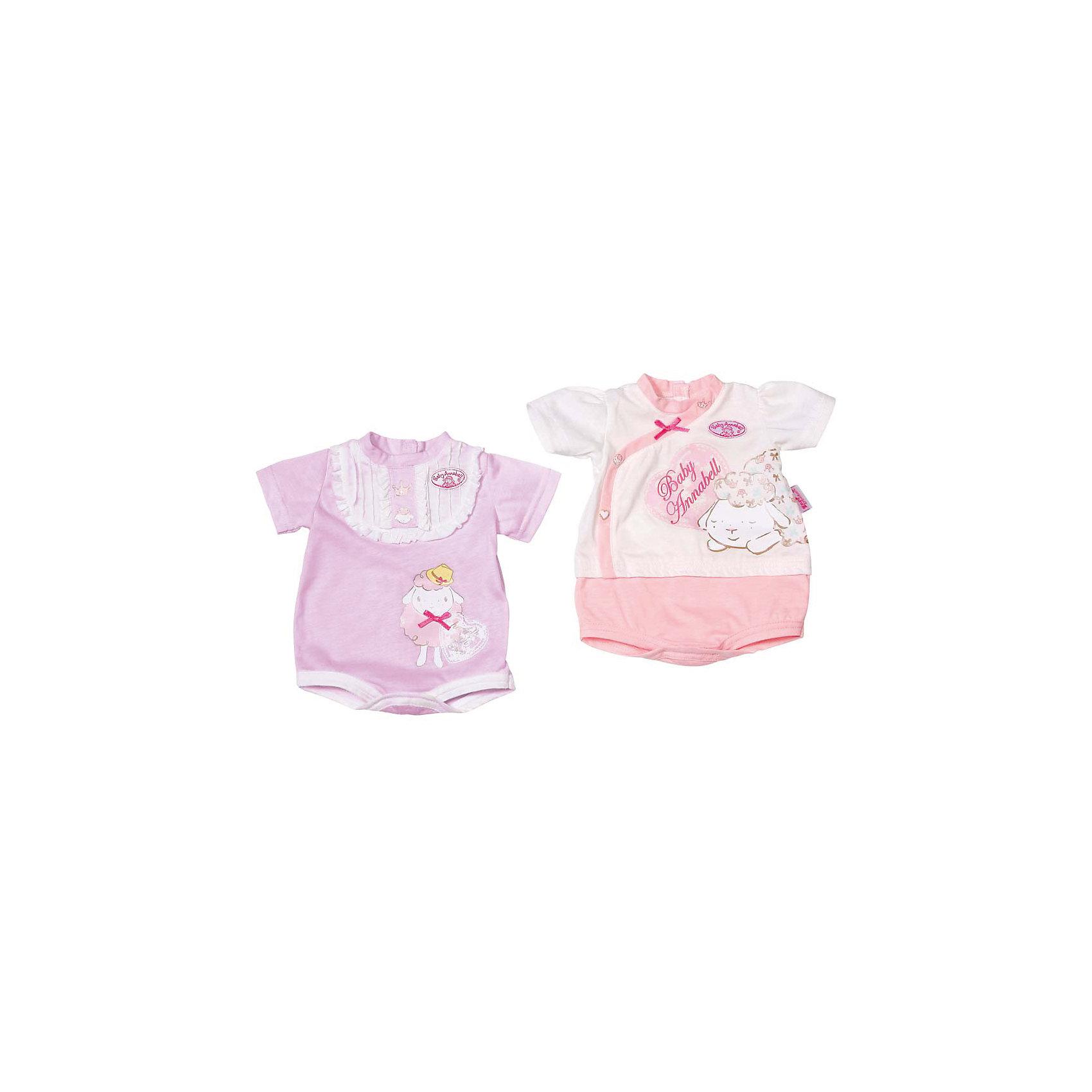 Нижнее белье, белый, Baby AnnabellНижнее белье для куклы Baby Annabell.<br><br>Характеристики комплекта Zapf Creation:<br><br>• вид нижнего белья: боди с коротким рукавом;<br>• цвет: белый;<br>• декор: логотип Baby Annabell;<br>• тип застежки: кнопки;<br>• нижнее белье предназначено для кукол высотой 46 см;<br>• материал: текстиль;<br>• размер упаковки: 26,2х2х20,6 см;<br>• вес упаковки: 120 г.<br><br>Нижнее белье,белый, Baby Annabell можно купить в нашем интернет-магазине.<br><br>Ширина мм: 170<br>Глубина мм: 20<br>Высота мм: 330<br>Вес г: 120<br>Возраст от месяцев: 36<br>Возраст до месяцев: 2147483647<br>Пол: Женский<br>Возраст: Детский<br>SKU: 5064308