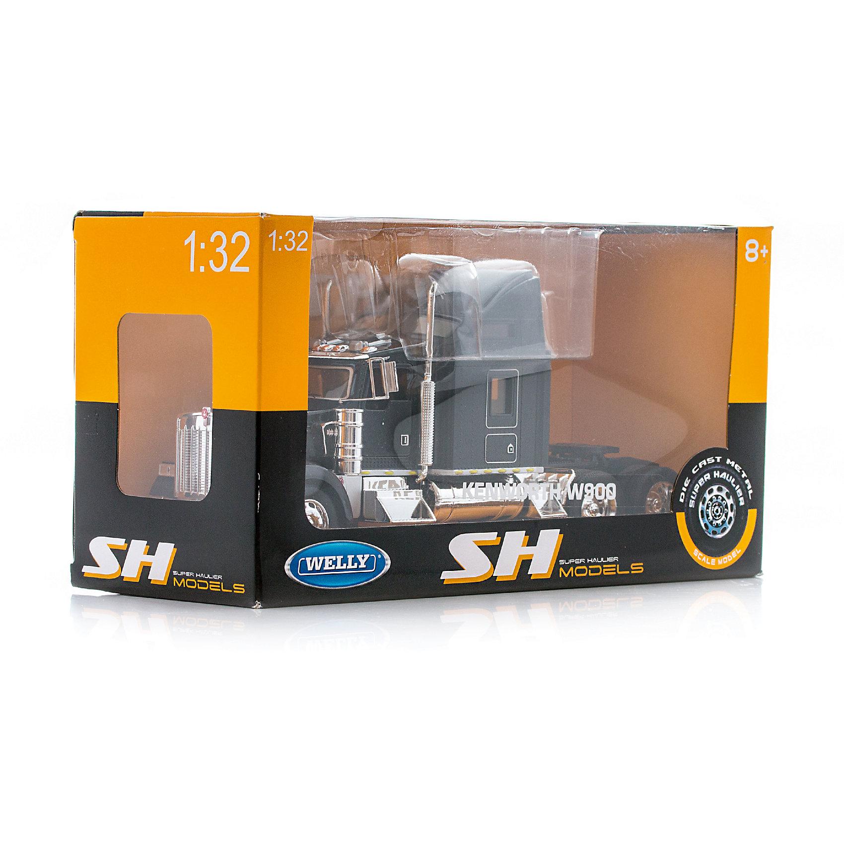Модель грузовика 1:32 Kenworth W900, черный, WellyИгрушечная машинка Kenworth W900 Welly.<br><br>Характеристики модели грузовика Welly:<br><br>• масштаб: 1:32;<br>• материал: металл, пластик, прорезиненные колеса;<br>• вид машины: грузовик;<br>• открываются двери;<br>• поворачивается руль, поворачиваются колеса;<br>• размер упаковки: 30х12х16 см;<br>• вес упаковки: 700 г<br><br>Игрушечные машинки Welly для насыщенной мальчишеской игры. Модели выполнены из пластика, есть металлические детали. Функциональная машинка с открывающейся дверцей, четко детализирована, позволяет рассмотреть составляющие элементы машины. <br><br>Модель грузовика 1:32 Kenworth W900, черный, Welly можно купить в нашем интернет-магазине.<br><br>Ширина мм: 120<br>Глубина мм: 300<br>Высота мм: 160<br>Вес г: 739<br>Возраст от месяцев: 36<br>Возраст до месяцев: 2147483647<br>Пол: Мужской<br>Возраст: Детский<br>SKU: 5064327