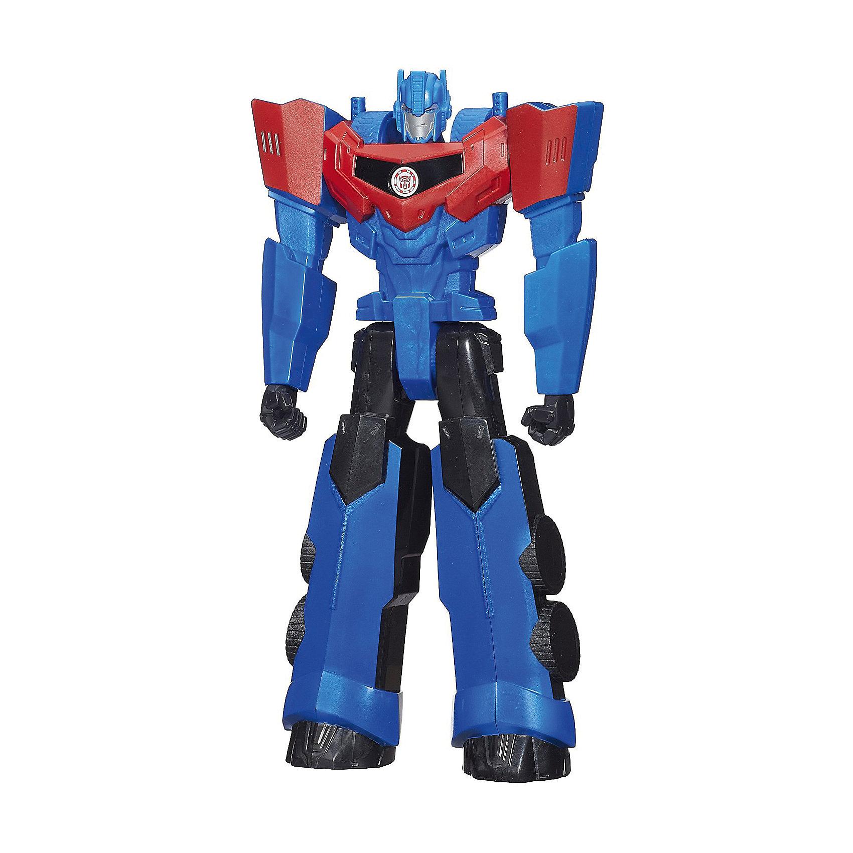 Титан: Роботы под прикрытием, 30 см, Трансформеры, B0760/B1295Титаны: Роботы под прикрытием, 30 см, Трансформеры, B0760/B1295.<br><br>Характеристики:<br><br>- В наборе: 1 трансформер<br>- Высота фигурки: 30 см.<br>- Материал: высококачественный пластик<br>- Размер упаковки: 17,5х5х30,5 см.<br><br>Робот-трансформер Оптимус Прайм от Hasbro (Хасбро) выполнен по мотивам популярного мультфильма «Роботы под прикрытием». Это очень качественная, тщательно детализированная коллекционная фигурка, которая и с точностью копирует персонажа мультфильма. У робота подвижны руки и ноги. Оптимус Прайм не трансформируется в машинку, его главная особенность заключается в том, что на груди робота расположен QR-код. Отсканировав код, вы получите множество дополнительных функций и вариантов игры в бесплатном приложении Hasbro Robots in Disguise для смартфонов и планшетов. Игрушка выполнена из высококачественного пластика и покрыта красками на водной основе. С такой замечательной фигуркой ваш ребенок будет увлеченно играть, придумывая новые истории, совершая невероятные миссии, попадая в захватывающие приключения!<br><br>Фигурку Титан: Роботы под прикрытием, 30 см, Трансформеры, B0760/B1295 можно купить в нашем интернет-магазине.<br><br>Ширина мм: 49<br>Глубина мм: 172<br>Высота мм: 800<br>Вес г: 424<br>Возраст от месяцев: 48<br>Возраст до месяцев: 144<br>Пол: Мужской<br>Возраст: Детский<br>SKU: 5064671