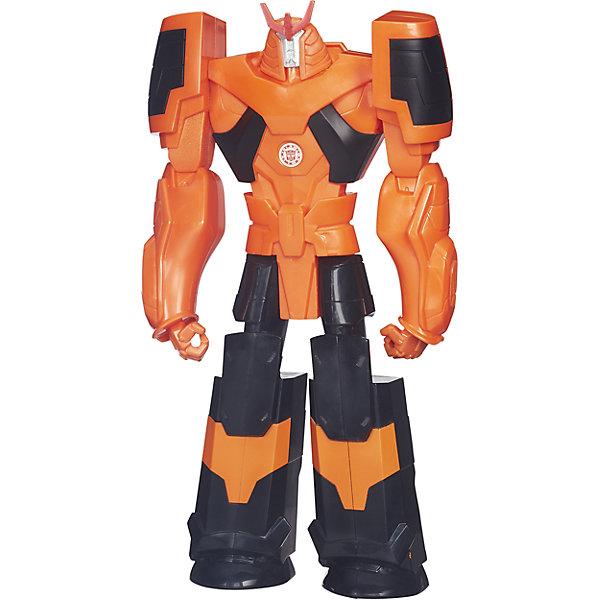 Титан: Роботы под прикрытием, 30 см, Трансформеры, B0760/B4678Трансформеры-игрушки<br>Титанs: Роботы под прикрытием, 30 см, Трансформеры, B0760/B4678.<br><br>Характеристики:<br><br>- В наборе: 1 трансформер<br>- Высота фигурки: 30 см.<br>- Материал: высококачественный пластик<br>- Размер упаковки: 17,5х5х30,5 см.<br><br>Робот-трансформер Дрифт от Hasbro (Хасбро) выполнен по мотивам популярного мультфильма «Роботы под прикрытием». Это очень качественная, тщательно детализированная коллекционная фигурка, которая и с точностью копирует персонажа мультфильма. У робота подвижны руки и ноги. Дрифт не трансформируется в машинку, его главная особенность заключается в том, что на груди робота расположен QR-код. Отсканировав код, вы получите множество дополнительных функций и вариантов игры в бесплатном приложении Hasbro Robots in Disguise для смартфонов и планшетов. Игрушка выполнена из высококачественного пластика и покрыта красками на водной основе. С такой замечательной фигуркой ваш ребенок будет увлеченно играть, придумывая новые истории, совершая невероятные миссии, попадая в захватывающие приключения!<br><br>Фигурку Титан: Роботы под прикрытием, 30 см, Трансформеры, B0760/B4678 можно купить в нашем интернет-магазине.<br>Ширина мм: 49; Глубина мм: 172; Высота мм: 800; Вес г: 424; Возраст от месяцев: 48; Возраст до месяцев: 144; Пол: Мужской; Возраст: Детский; SKU: 5064674;