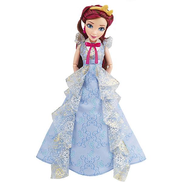 Кукла Джейн, светлые герои в платьях для коронации, Наследники, DisneyИгрушки<br>Светлые герои в платьях для коронации, Наследники, Disney, B3123/B3125.<br><br>Характеристики:<br><br>- В наборе: 1 кукла в платье для коронации, ободок, браслет, сумочка, кольцо для девочки<br>- Высота куклы: 27,5 см.<br>- Материал: высококачественный пластик, текстиль<br><br>Замечательная кукла Джейн станет приятным подарком для девочки - поклонницы мультфильма «Наследники». Кукла выполнена с соблюдением внешних особенностей диснеевской героини Джейн из Аурадона, дочери Феи-Крестной, и одета в праздничное платье для коронации. На ней нежно-голубое платье с прозрачными рюшами и серебристым узором. На ногах - золотистые босоножки, которые сочетаются с сумочкой. На руке - красивый браслет. У куклы красивые густые волосы, которые можно расчесывать и заплетать. Волосы уложены в прическу, на голове красуется ободок с бантиком. Макияж Джейн подчеркивает выразительность глаз, а длинные нарисованные реснички делают взгляд проницательным и ярким. А еще вашу малышку ждет приятный сюрприз - в набор входит золотистое колечко с гербом, которое она сможет носить на своей руке. Кукла имеет шарнирное соединение в 11 точках артикуляции, и может принимать любую позу. Игрушка выполнена из качественных, нетоксичных материалов, сертифицированных для производства детских товаров. Используемые красители безопасны для ребёнка.<br><br>Набор Светлые герои в платьях для коронации, Наследники, Disney, B3123/B3125 можно купить в нашем интернет-магазине.<br><br>Ширина мм: 63<br>Глубина мм: 253<br>Высота мм: 330<br>Вес г: 393<br>Возраст от месяцев: 72<br>Возраст до месяцев: 168<br>Пол: Женский<br>Возраст: Детский<br>SKU: 5064678