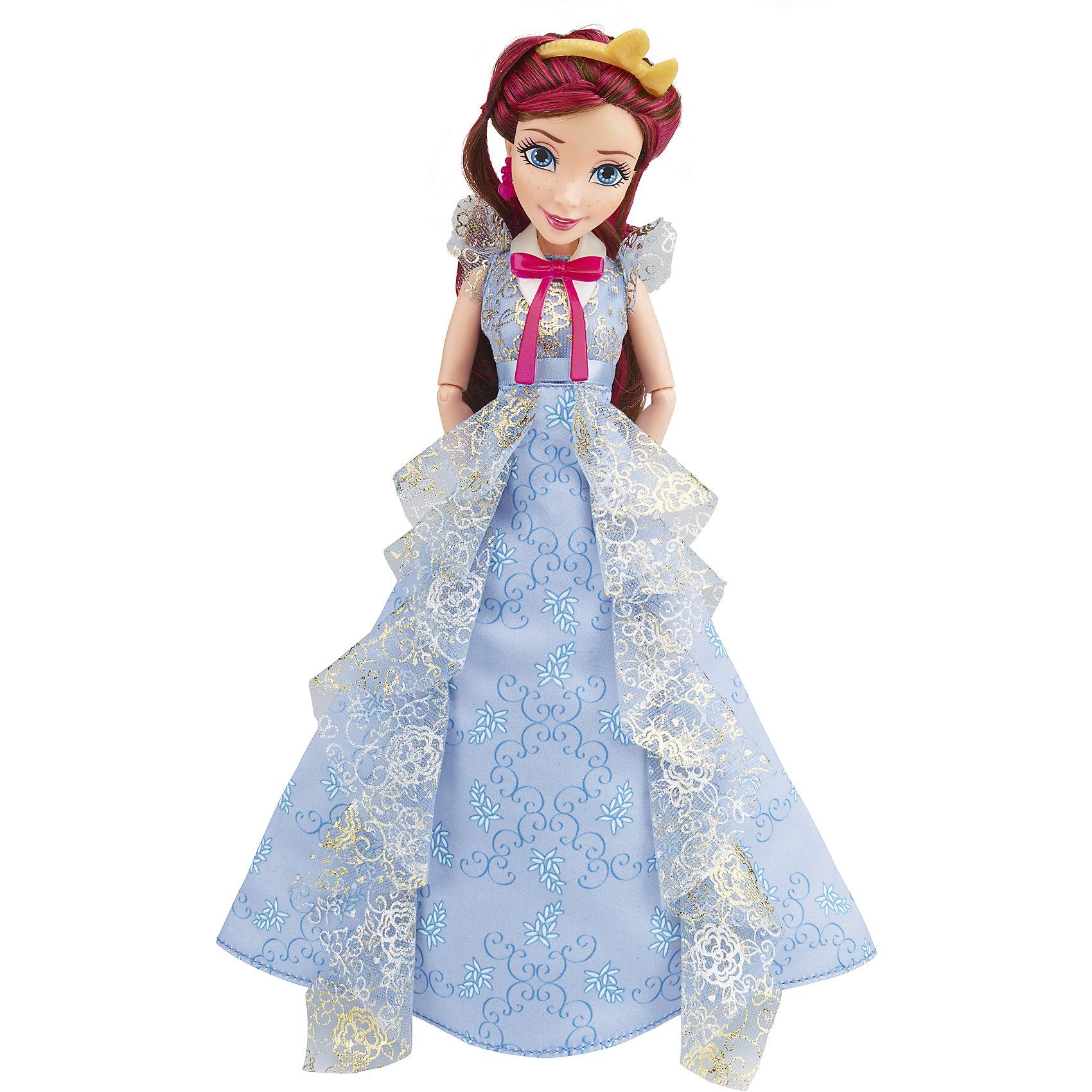 Кукла Джейн, светлые герои в платьях для коронации, Наследники, Disney, B3123/B3125Игрушки<br>Светлые герои в платьях для коронации, Наследники, Disney, B3123/B3125.<br><br>Характеристики:<br><br>- В наборе: 1 кукла в платье для коронации, ободок, браслет, сумочка, кольцо для девочки<br>- Высота куклы: 27,5 см.<br>- Материал: высококачественный пластик, текстиль<br><br>Замечательная кукла Джейн станет приятным подарком для девочки - поклонницы мультфильма «Наследники». Кукла выполнена с соблюдением внешних особенностей диснеевской героини Джейн из Аурадона, дочери Феи-Крестной, и одета в праздничное платье для коронации. На ней нежно-голубое платье с прозрачными рюшами и серебристым узором. На ногах - золотистые босоножки, которые сочетаются с сумочкой. На руке - красивый браслет. У куклы красивые густые волосы, которые можно расчесывать и заплетать. Волосы уложены в прическу, на голове красуется ободок с бантиком. Макияж Джейн подчеркивает выразительность глаз, а длинные нарисованные реснички делают взгляд проницательным и ярким. А еще вашу малышку ждет приятный сюрприз - в набор входит золотистое колечко с гербом, которое она сможет носить на своей руке. Кукла имеет шарнирное соединение в 11 точках артикуляции, и может принимать любую позу. Игрушка выполнена из качественных, нетоксичных материалов, сертифицированных для производства детских товаров. Используемые красители безопасны для ребёнка.<br><br>Набор Светлые герои в платьях для коронации, Наследники, Disney, B3123/B3125 можно купить в нашем интернет-магазине.<br><br>Ширина мм: 63<br>Глубина мм: 253<br>Высота мм: 1750<br>Вес г: 393<br>Возраст от месяцев: 72<br>Возраст до месяцев: 168<br>Пол: Женский<br>Возраст: Детский<br>SKU: 5064678