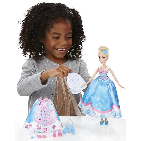 Кукла Золушка в  платье со сменными юбками, Принцессы Дисней, B5312/B5314Игрушки<br>Кукла Золушка в платье со сменными юбками, Принцессы Дисней, B5312/B5314.<br><br>Характеристики:<br><br>- В наборе: кукла; 3 текстильные юбки, которые можно прикреплять к платью; 4 клипсы в виде бантов и цветов для украшения наряда; ободок, сумочка, дополнительная пара туфель<br>- Высота куклы: 28 см.<br>- Материал: высококачественный пластик, текстиль<br>- Размер упаковки: 16,5х6,4х35,6 см.<br>- Вес упаковки: 197 г.<br><br>Очаровательная кукла в виде Золушки, героини одноименного мультфильма от торговой марки Hasbro (Хасбро) станет любимой игрушкой вашей маленькой принцессы. Она изготовлена из прочного пластика, а ее одежда пошита из высококачественного текстиля. Кукла имеет высокую степень детализации, даже самые мелкие детали качественно прорисованы. Золушка одета в нежно-голубое платье и носит красивую сумочку. Локоны принцессы собраны в элегантный пучок. Дополнительные юбки, украшения и туфли, входящие в комплект, разнообразят гардероб Золушки. Девочка сможет сочетать различные юбки и декорировать наряд куклы аксессуарами, чтобы создать неповторимый наряд для принцессы. С замечательной куклой ваша малышка окунется в сказочный мир, и будет придумывать увлекательные истории про любимую героиню.<br><br>Куклу Золушка в платье со сменными юбками, Принцессы Дисней, B5312/B5314 можно купить в нашем интернет-магазине.<br>Ширина мм: 64; Глубина мм: 165; Высота мм: 356; Вес г: 197; Возраст от месяцев: 36; Возраст до месяцев: 144; Пол: Женский; Возраст: Детский; SKU: 5064703;
