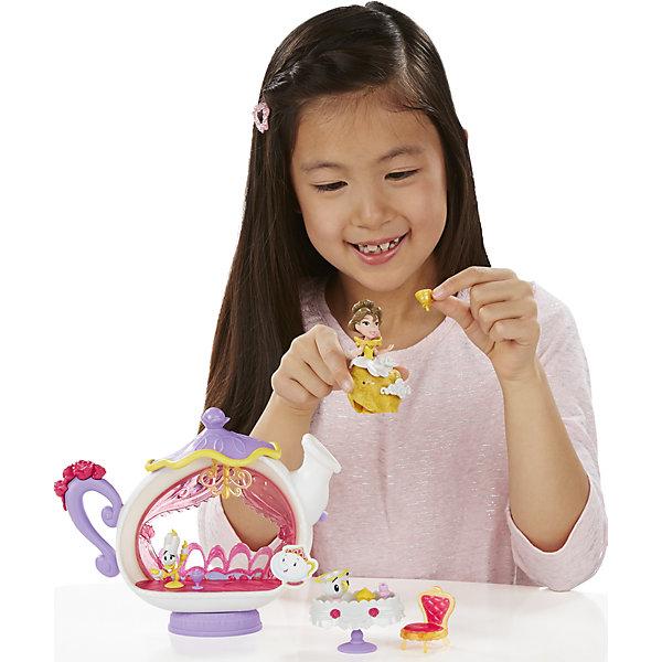 Игровой набор Маленькая кукла Принцесса, с аксессуарами БелльИгровые наборы с фигурками<br>Игровой набор Маленькая кукла Принцесса, с аксессуарами, B5344/B5346.<br><br>Характеристики:<br><br>- В наборе: кукла Бэлль; фигурка Чипа; фигурка Люмьера; стол; стул; столовые приборы; желоб для сладостей; 3 украшения<br>- Материал: высококачественный пластик<br>- Высота куклы: 7,5 см.<br>- Размер упаковки: 6,6х30,5х22,9 см.<br><br>Очаровательная и веселая диснеевская принцесса Бэлль хочет провести веселый ужин со своими заколдованными друзьями. Бэлль накрыла роскошный стол, чтобы поужинать в веселой компании канделябра Люмьера и чашки Чипа. Куколка, входящая в набор, относится к целой серии игрушек под названием Disney Princess Little Kingdom, поэтому имеет небольшой размер - всего 7,5 см. Не смотря на это, у нее красивый дизайн, а также превосходная детализация! Кукла может сидеть и стоять. Данный набор еще интересен и тем, что в платье куколки есть крохотные дырочки, в которые ребенок сможет прикрепить красивые тематические аксессуары из набора. Игровой набор изготовлен из качественного, нетоксичного пластика.<br><br>Игровой набор Маленькая кукла Принцесса, с аксессуарами, B5344/B5346 можно купить в нашем интернет-магазине.<br>Ширина мм: 65; Глубина мм: 305; Высота мм: 1400; Вес г: 415; Возраст от месяцев: 48; Возраст до месяцев: 96; Пол: Женский; Возраст: Детский; SKU: 5064708;
