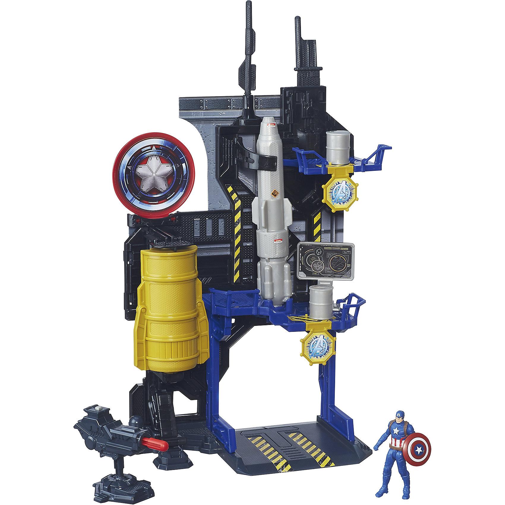 Игровая башня Мстителей, Капитан Америка, B5770/B6739Игрушки<br>Игровая башня Мстителей, B5770/B6739.<br><br>Характеристики:<br>- В наборе: фигурка Капитана Америки; оружие; башня<br>- Материал: пластик<br>- Размер упаковки: 22,9х6,4х30,5 см.<br>- Вес в упаковке: 500 г.<br><br>Башня Мстителей – это отличный набор для поклонников вселенной Marvel, созданный по мотивам фильма Капитан Америка 3: Гражданская война. По сюжету противостояние правительства и людей со сверхспособностями дает начало великой битве за свободу существования последних. Одну из воюющих сторон представляет Капитан Америка, защищающий права супергероев. Многоэтажная башня оснащена стреляющей пушкой и пусковыми механизмами для обстрела врагов бочками. Фигурку Капитана Америки можно спрятать в специальном отсеке. Игровой набор позволит вашему ребенку воспроизвести сцену сражения или придумать собственный сюжет. Башню ребенку предстоит собрать самому - с небольшой помощью взрослых. Элементы наборов Игровая башня Мстителей сочетаются между собой, собрав их все, можно создать большую штаб-квартиру Мстителей. Ваш ребенок весело проведет время, играя с набором дома, на детской площадке или в песочнице. А процесс сборки поможет малышу развить мелкую моторику, внимательность и усидчивость. Порадуйте своего малыша таким замечательным подарком!<br><br>Набор Игровая башня Мстителей, B5770/B6739 можно купить в нашем интернет-магазине.<br><br>Ширина мм: 64<br>Глубина мм: 229<br>Высота мм: 1450<br>Вес г: 580<br>Возраст от месяцев: 48<br>Возраст до месяцев: 144<br>Пол: Мужской<br>Возраст: Детский<br>SKU: 5064719