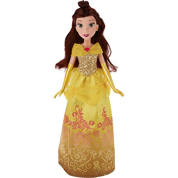 Классическая модная кукла Принцесса БелльИгрушки<br>Классическая модная кукла Принцесса, B6446/B5287.<br><br>Характеристики:<br><br>- Материал: пластмасса, текстиль.<br>- Высота куклы: 28 см.<br>- Размер упаковки: 15х5х36 см.<br><br>Симпатичная кукла представлена в образе прекрасной принцессы Disney по имени Белль из мультипликационного сериала Красавица и чудовище. Она одета в нарядное золотистое платье. Мерцание блеска, витиеватые узоры в виде цветов, изящные длинные перчатки и аккуратные желтые туфли — все это делает образ диснеевской принцессы нежным, но в то же время нарядным. Юное личико Белль охвачено легким румянцем, легкий макияж подчеркивает и без того яркие глаза и губы Белль, а удивленное выражение придает образу озорства и легкости. У куклы невероятно красивые темные волосы, которые можно расчесывать и заплетать. Подвижные ручки, ножки и голова позволяют кукле принимать множество реалистичных поз. Очаровательная детализированная кукла приведет в восторг вашу малышку и отлично дополнит ее коллекцию диснеевских принцесс.<br><br>Классическую модную куклу Принцесса, B6446/B5287 можно купить в нашем интернет-магазине.<br><br>Ширина мм: 51<br>Глубина мм: 152<br>Высота мм: 860<br>Вес г: 215<br>Возраст от месяцев: 36<br>Возраст до месяцев: 144<br>Пол: Женский<br>Возраст: Детский<br>SKU: 5064734