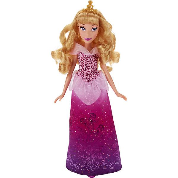 Классическая модная кукла Принцесса АврораИгрушки<br>Классическая модная кукла Принцесса, B6446/B5290.<br><br>Характеристики:<br><br>- Материал: пластмасса, текстиль.<br>- Высота куклы: 28 см.<br>- Размер упаковки: 15х5х36 см.<br><br>Симпатичная кукла представлена в образе прекрасной принцессы Disney Авроры из мультипликационного сериала Спящая красавица. У Авроры, как и полагается, розовое платье, однако наряд сделан совсем в новом дизайне, ведь юбку, помимо розового, дополняют такие цвета, как фуксия и фиолетовый. Подол украшен расписным узором, а верхняя часть наряда — легкими оборками. Золотистая тиара и туфельки на каблучке дополняют безупречный образ принцессы. У куклы невероятно красивые светлые волосы, которые можно расчесывать и заплетать. Подвижные ручки, ножки и голова позволяют кукле принимать множество реалистичных поз. Очаровательная детализированная кукла приведет в восторг вашу малышку и отлично дополнит ее коллекцию диснеевских принцесс.<br><br>Классическую модную куклу Принцесса, B6446/B5290 можно купить в нашем интернет-магазине.<br>Ширина мм: 51; Глубина мм: 152; Высота мм: 860; Вес г: 215; Возраст от месяцев: 36; Возраст до месяцев: 144; Пол: Женский; Возраст: Детский; SKU: 5064736;