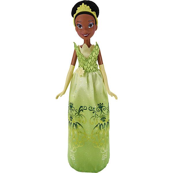 Классическая модная кукла Принцесса ТианаИгрушки<br>Классическая модная кукла Принцесса, B6446/B5823.<br><br>Характеристики:<br><br>- Материал: пластмасса, текстиль.<br>- Высота куклы: 28 см.<br>- Размер упаковки: 15х5х36 см.<br><br>Симпатичная кукла представлена в образе темнокожей красавицы Disney Тианы из мультипликационного фильма «Принцесса и лягушка». У куклы аккуратно собранные в высокую прическу темные волосы, украшенные зеленой тиарой. Верх платья Тианы напоминает очертание водяной лилии, а подол имеет плавные переходы из цвета в цвет и четкий узор в виде изящного рисунка. Руки принцессы украшены перчатками. На ногах – туфельки. Крупные черты лица смотрятся очень выразительно, поэтому принцесса невероятно хороша! У куклы невероятно красивые светлые волосы, которые можно расчесывать и заплетать. Подвижные ручки, ножки и голова позволяют кукле принимать множество реалистичных поз. Очаровательная детализированная кукла приведет в восторг вашу малышку и отлично дополнит ее коллекцию диснеевских принцесс.<br><br>Классическую модную куклу Принцесса, B6446/B5823 можно купить в нашем интернет-магазине.<br><br>Ширина мм: 51<br>Глубина мм: 152<br>Высота мм: 860<br>Вес г: 215<br>Возраст от месяцев: 36<br>Возраст до месяцев: 144<br>Пол: Женский<br>Возраст: Детский<br>SKU: 5064737