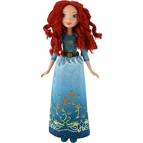 Кукла Принцесса Мерида, Принцессы Дисней, B6447/B5825Игрушки<br>Кукла Принцесса, Принцессы Дисней, B6447/B5825.<br><br>Характеристики:<br><br>- Материал: пластмасса, текстиль.<br>- Высота куклы: 28 см.<br>- Размер упаковки: 15х5х36 см.<br><br>Симпатичная кукла представлена в образе прекрасной принцессы Disney Мериды из мультипликационного сериала Храбрая сердцем. Она одета в нарядное бирюзово-голубое платье украшенное золотистыми элементами и туфельки на каблуке в тон наряду. У куклы милые черты лица, забавные рыжие веснушки и очаровательные рыжие волосы, которые можно расчесывать и заплетать. Большие голубые глаза завораживают и очаровывают, а милая улыбка придает образу нежности. Подвижные ручки, ножки и голова позволяют Мериде принимать множество реалистичных поз. Очаровательная детализированная кукла приведет в восторг вашу малышку и отлично дополнит ее коллекцию диснеевских принцесс.<br><br>Куклу Принцесса, Принцессы Дисней, B6447/B5825 можно купить в нашем интернет-магазине.<br><br>Ширина мм: 51<br>Глубина мм: 152<br>Высота мм: 860<br>Вес г: 144<br>Возраст от месяцев: 36<br>Возраст до месяцев: 144<br>Пол: Женский<br>Возраст: Детский<br>SKU: 5064738