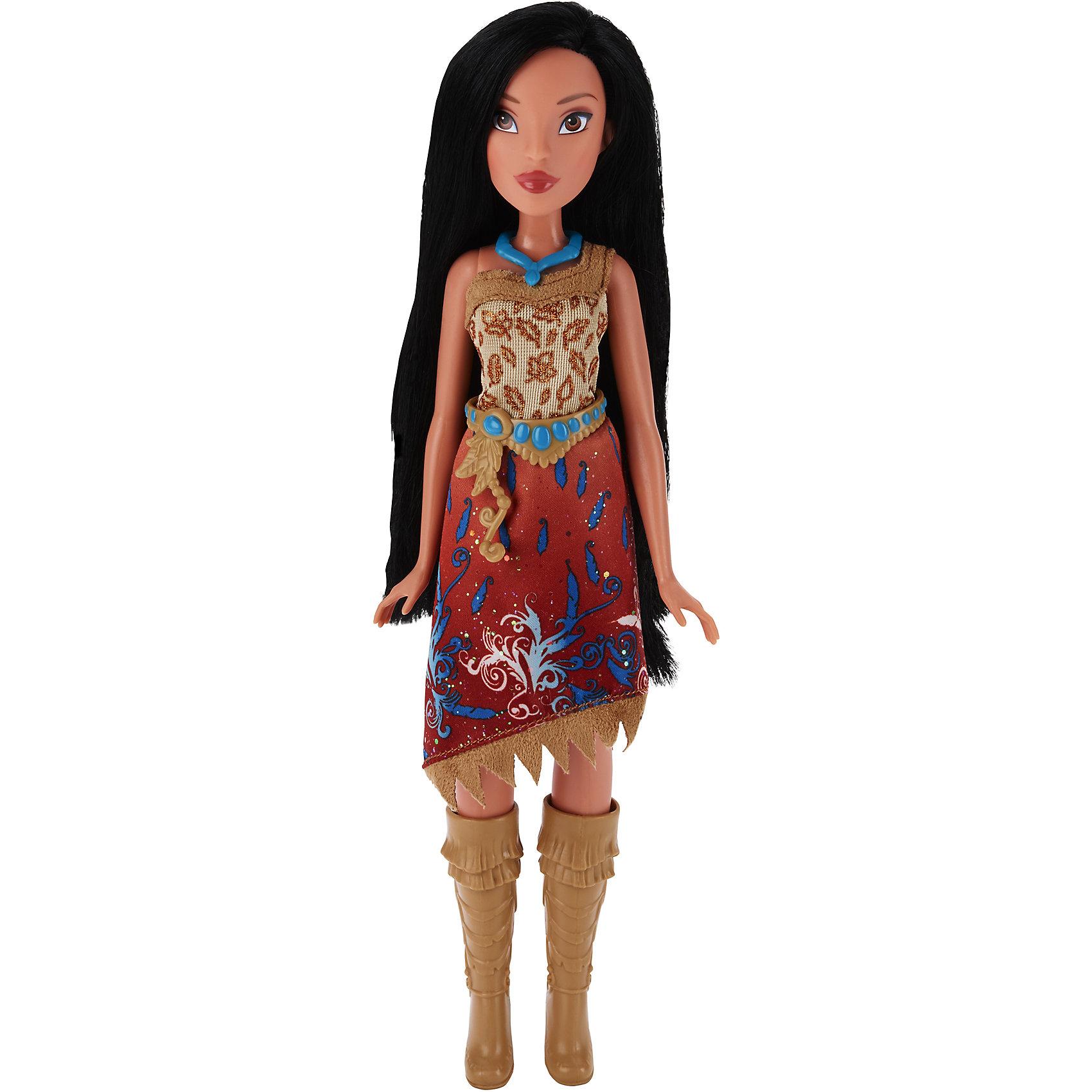 Кукла Принцесса Покахонтас, Принцессы Дисней, B6447/B5828Игрушки<br>Кукла Принцесса, Принцессы Дисней, B6447/B5828.<br><br>Характеристики:<br><br>- Материал: пластмасса, текстиль.<br>- Высота куклы: 28 см.<br>- Размер упаковки: 15х5х36 см.<br><br>Симпатичная кукла представлена в образе прекрасной принцессы Disney Покахонтас из одноименного мультипликационного сериала. Она одета в этническом стиле, платье с косым кроем подола и высокие сапожки в тон наряду. У Покахонтас смуглая кожа, милые черты лица и невероятно красивые черные волосы, которые можно расчесывать и заплетать. Подвижные ручки, ножки и голова позволяют Покахонтас принимать множество реалистичных поз. Очаровательная детализированная кукла приведет в восторг вашу малышку и отлично дополнит ее коллекцию диснеевских принцесс.<br><br>Куклу Принцесса, Принцессы Дисней, B6447/B5828 можно купить в нашем интернет-магазине.<br><br>Ширина мм: 51<br>Глубина мм: 152<br>Высота мм: 860<br>Вес г: 144<br>Возраст от месяцев: 36<br>Возраст до месяцев: 144<br>Пол: Женский<br>Возраст: Детский<br>SKU: 5064741