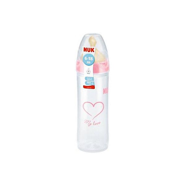 Бутылочка First Choice New Classic из ПП 250 мл + лат.соска  FC+ М р-р 2, NUK, розовый210 - 281 мл.<br>Характеристики изделия:<br><br>- объем: 250 мл;<br>- цвет: розовый;<br>- материал: латекс, полипропилен;<br>- широкое горло;<br>- система Anti-Colic Air System;<br>- для смешанного вскармливания;<br>- возраст: 0-6 месяцев.<br><br>Детские товары существенно облегчают жизнь молодым мамам. Существует множество полезных в период материнства вещей. К таким относится обыкновенная пластиковая бутылочка-поильник. <br>Данная модель оптимально подходит для детей, которых приучают есть самостоятельно. Мягкий материал соски подойдет для ротовой полости ребенка. Предмет удобно держать. Бутылочка легко очищается от любых поверхностных загрязнений, так как имеет удобное широкое горлышко. Оптимальный объем позволит использовать бутылочку для малышей с рождения до шести месяцев.<br><br>Бутылочку First Choice New Classic от производителя NUK можно купить в нашем магазине.<br><br>Ширина мм: 55<br>Глубина мм: 55<br>Высота мм: 165<br>Вес г: 95<br>Возраст от месяцев: 6<br>Возраст до месяцев: 18<br>Пол: Унисекс<br>Возраст: Детский<br>SKU: 5065250
