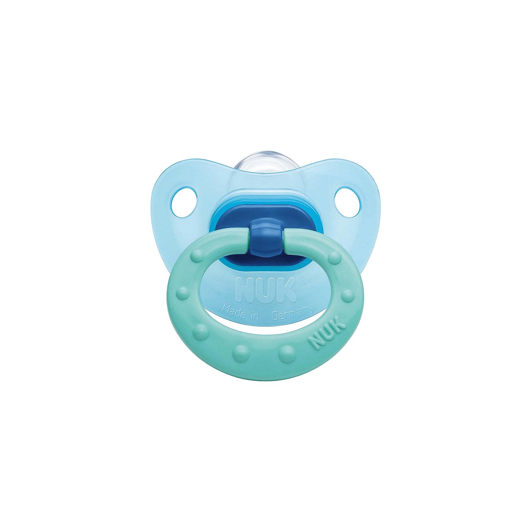 Пустышка силиконовая для сна CLASSIC FASHION р-р 2, NUK, голубой