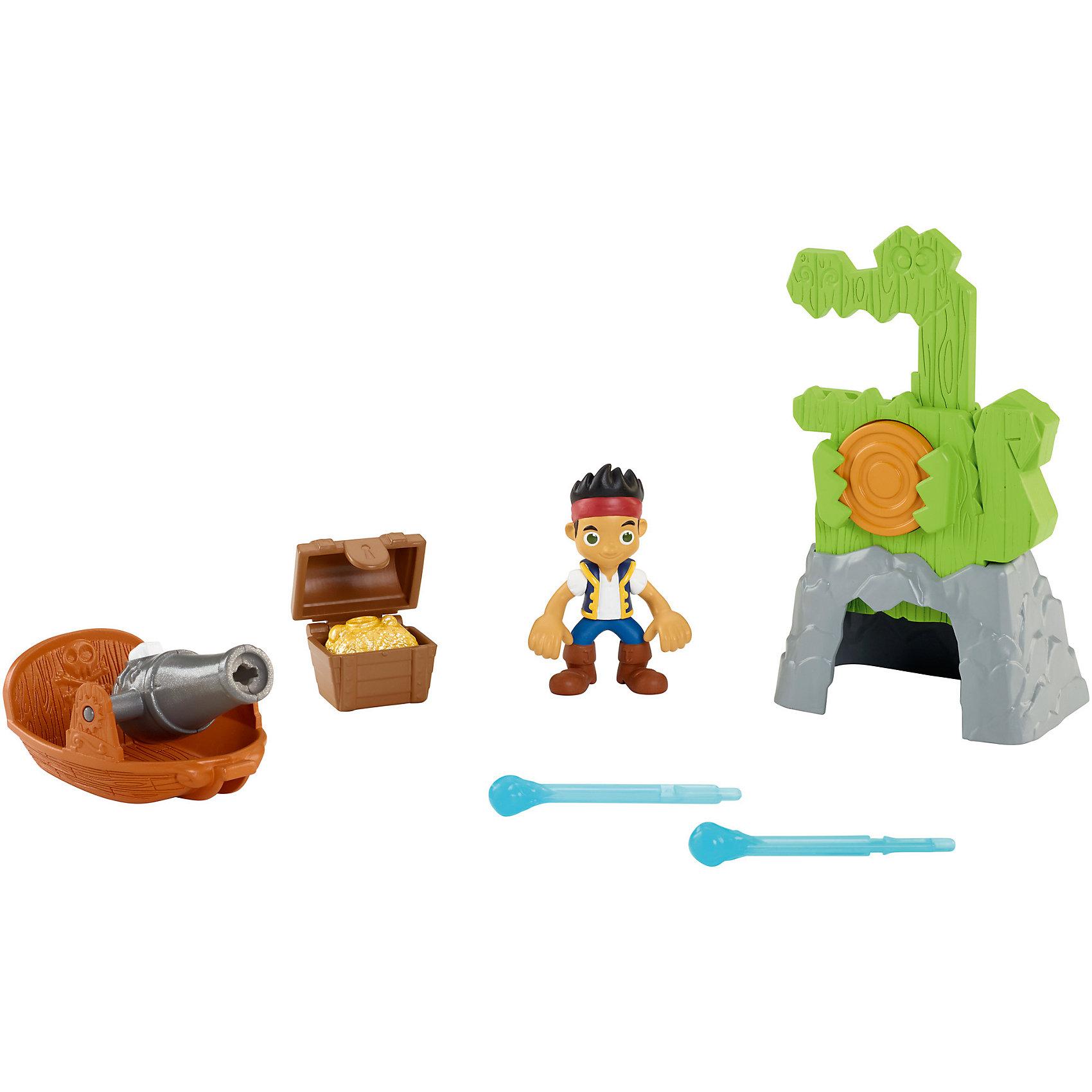 Игровой набор, Fisher Price, Джейк и пираты Нетландии. Сокровища крокодила Тик-ТакаДжейк и пираты Нетландии<br>Характеристики:<br><br>• Вид игр: сюжетно-ролевые игры<br>• Пол: для мальчиков<br>• Материал: пластик<br>• Цвет: коричневый, синий, серый, зеленый, желтый<br>• Комплектация: фигурка Джейка, лодка, пушка, стрелковая мишень<br>• Размер (Д*Ш*В): 27*7*23 см<br>• Вес: 400 г<br>• Серия: Джейк и пираты Нетландии<br><br>Игровой набор, Fisher Price, Джейк и пираты Нетландии включает в себя фигурку популярного героя мультсериала – Джейка и набор аксессуаров, предназначенный для тренировки и оттачивания мастерства для борьбы с главным противником – Крокодилом Тик-Таком. В наборе лодка, приспособленная с пушкой и стрелковая мишень, выполненная в виде крокодила Тик-Така. Фигурки персонажей и аксессуары выполнены с высокой точностью соответствия прототипам. Игровые элементы изготовлены из безопасного и прочного пластика.  Сюжетно-ролевые игры с набором позволят не только воссоздать наиболее понравившиеся сюжеты из сериала, но и придумать свою историю с ловким и смелым героем.<br><br>Игровой набор, Fisher Price, Джейк и пираты Нетландии, в ассортименте можно купить в нашем интернет-магазине.<br><br>Ширина мм: 274<br>Глубина мм: 233<br>Высота мм: 76<br>Вес г: 280<br>Возраст от месяцев: 36<br>Возраст до месяцев: 60<br>Пол: Мужской<br>Возраст: Детский<br>SKU: 5065445