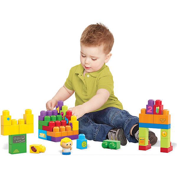 Конструктор Школьный класс, First Builders, MEGA BLOKSПластмассовые конструкторы<br>Характеристики:<br><br>• Вид игр: конструирование, сюжетно-ролевые игры<br>• Пол: универсальный<br>• Материал: пластик, наклейки<br>• Цвет: красный, зеленый, желтый, голубой, оранжевый, синий, фиолетовый<br>• Комплектация: 75 деталей<br>• Размер (Д*Ш*В): 51*9*29 см<br>• Вес: 1 кг 190 г<br>• Серия: First Builders<br><br>Игровой набор Учиться весело, First Builders, MEGA BLOKS включает в себя 75 элементов, среди которых разноцветные блоки, фигурка мальчика и наклейки с предметами. Игровые блоки изготовлены из безопасного и прочного пластика, у них отсутствуют острые углы. Размер блоков подобран с учетом размера детской ладошки, их удобно держать. Кроме того, они легко присоединяются и соединяются. Большое количество блоков и разнообразие наклеек позволяет сконструировать целый учебный класс, тем более, что в наборе уже есть ученик. Сюжетно-ролевые игры с набором Учиться весело, First Builders, MEGA BLOKS позволят расширить обогатить запас ребенка и расширить его кругозор. А конструирование будет способствовать развитию мелкой моторики, пространственного и зрительного восприятия.<br>Игровой набор Учиться весело, First Builders, MEGA BLOKS по праву может стать первым конструктором для вашего малыша!<br><br>Игровой набор Учиться весело, First Builders, MEGA BLOKS  можно купить в нашем интернет-магазине.<br>Ширина мм: 292; Глубина мм: 89; Высота мм: 508; Вес г: 1130; Возраст от месяцев: 12; Возраст до месяцев: 36; Пол: Унисекс; Возраст: Детский; SKU: 5065447;