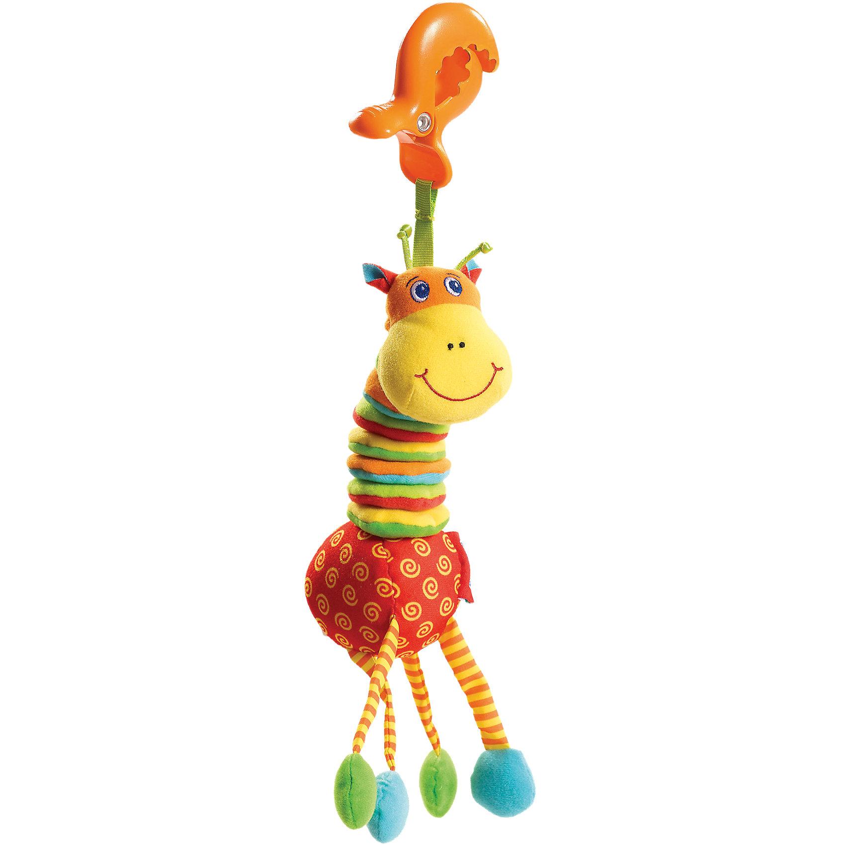 Развивающий игрушка Жираф, Tiny LoveРазвивающие игрушки<br>Игрушки серии Tiny Smarts - это уникальное сочетание всех чудесных свойств развивающих игрушек Tiny Love (Тини Лав) и выгодной цены. Игрушки Tiny Smarts можно повсюду брать с собой - малыши перед ними не устоят.  Развивающую игрушку «Вибрирующий Жираф» легко схватить и удержать в ручках, благодаря чему она привлечёт внимание даже новорожденного. Гусеничка сделана из материалов различной текстуры, что также станет объектом исследования малыша. В голове у разноцветного маленького жирафа - весёлая погремушка, которая издаёт забавные звуки. Жирафа можно потянуть за шею, и он снова ее втянет, забавно качая при этом головой.  Так с самых первых дней жизни малыша игрушка будет развивать его органы чувств, мелкую и крупную моторику и мировосприятие.  Дополнительная информция: Материал: текстиль, пластик Габариты: 26х9х5 см Вес: 0.1 кг  Развивающий игрушка Жираф, Tiny Love (Тини Лав) вы можете купить в нашем интернет - магазине.<br><br>Ширина мм: 175<br>Глубина мм: 137<br>Высота мм: 71<br>Вес г: 500<br>Возраст от месяцев: -2147483648<br>Возраст до месяцев: 2147483647<br>Пол: Унисекс<br>Возраст: Детский<br>SKU: 5065869