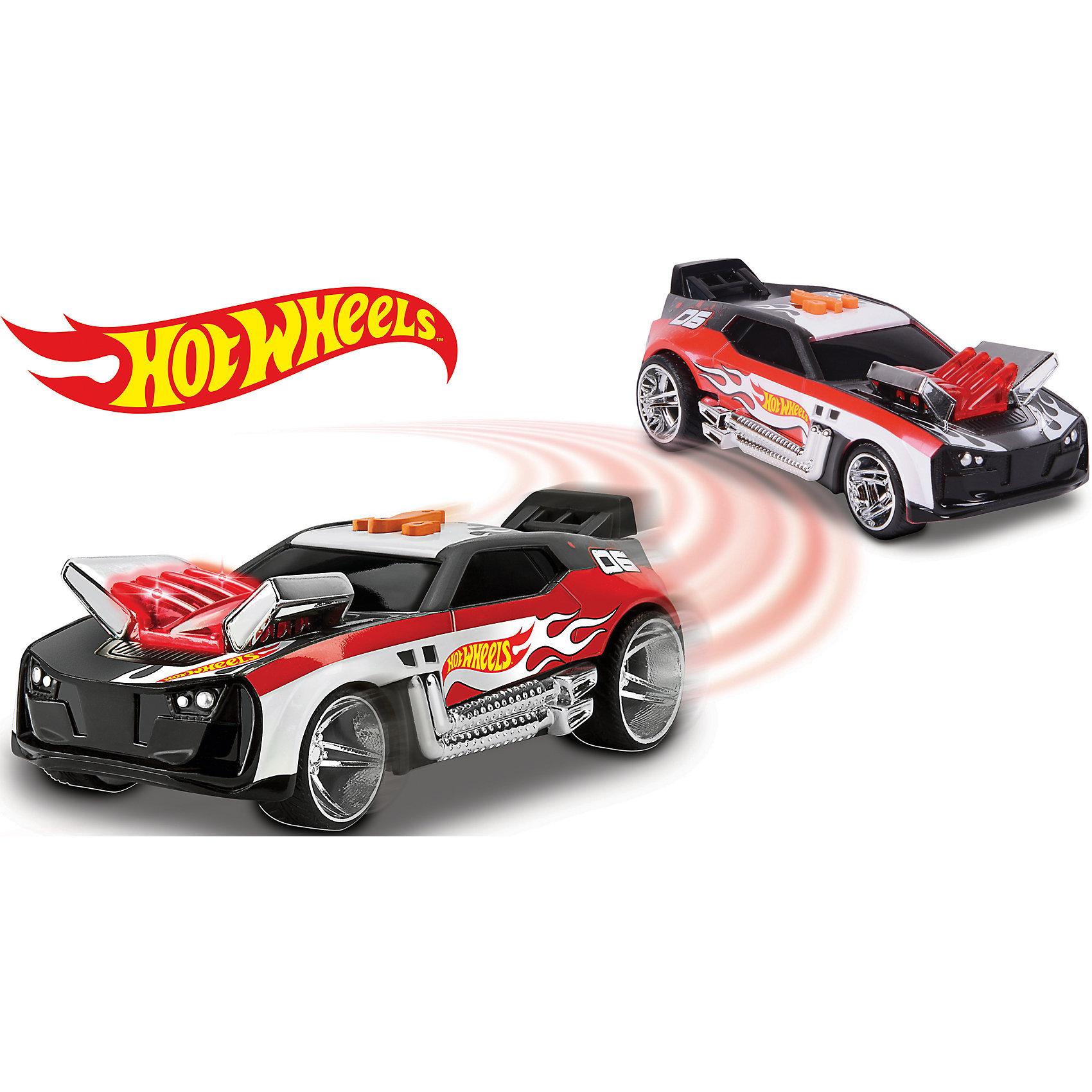 Машинка на батарейках, красная, 17 см, Hot WheelsМашинки<br>Машинка Хот Вилс электромеханическая, на батарейках, свет+звук.<br><br>Характеристики гоночной машинки Hot Wheels:<br><br>• световые эффекты: мигающие лампочки;<br>• звуковые эффекты: работающий мотор, лязг шин;<br>• функциональность модели: стремительный старт, разворот с остановкой;<br>• электронная модель: работает от батареек;<br>• длина машинки: 17 см;<br>• батарейки входят в комплект: 3 шт. типа ААА;<br>• размер упаковки: 23х11х12 см;<br>• вес упаковки: 318 г.<br><br>Скоростные гонки, жажда скорости, молниеносный старт – гоночные машинки Hot Wheels порадуют мальчишек турбодвигателем с электромеханической подвеской. <br><br>Машинку на батарейках, красную, 17 см, Hot Wheels можно купить в нашем интернет-магазине.<br><br>Ширина мм: 230<br>Глубина мм: 120<br>Высота мм: 110<br>Вес г: 348<br>Возраст от месяцев: 36<br>Возраст до месяцев: 2147483647<br>Пол: Мужской<br>Возраст: Детский<br>SKU: 5066698