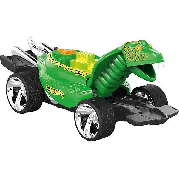 Электромеханическая машинка Питон зеленый, 23 см, Hot WheelsМашинки<br>Машинка-монстр Хот Вилс электромеханическая, на батарейках, свет+звук.<br><br>Характеристики гоночной машинки в виде питона Hot Wheels:<br><br>• световые эффекты: мигающие лампочки;<br>• звуковые эффекты: работающий мотор, лязг шин;<br>• внешний вид: огромный корпус-питон, хромированные диски;<br>• функциональность модели: подвижная голова питона;<br>• электронная модель: работает от батареек;<br>• батарейки входят в комплект: 3 шт. типа ААА;<br>• длина машинки: 23 см;<br>• размер упаковки: 27,3х12,7х12,7 см;<br>• вес упаковки: 454 г.<br><br>Скоростные гонки, жажда скорости, молниеносный старт – гоночные машинки Hot Wheels порадуют мальчишек агрессивным видом и оформлением кузова в виде питона Машинка Hot Wheels с электромеханической подвеской имеет колеса разного диаметра: передние колеса меньшего диаметра, а задние колеса большего диаметра. <br><br>Электромеханическую машинку Питон зеленый, 23 см, Hot Wheels можно купить в нашем интернет-магазине.<br><br>Ширина мм: 270<br>Глубина мм: 130<br>Высота мм: 130<br>Вес г: 507<br>Возраст от месяцев: 36<br>Возраст до месяцев: 2147483647<br>Пол: Мужской<br>Возраст: Детский<br>SKU: 5066702