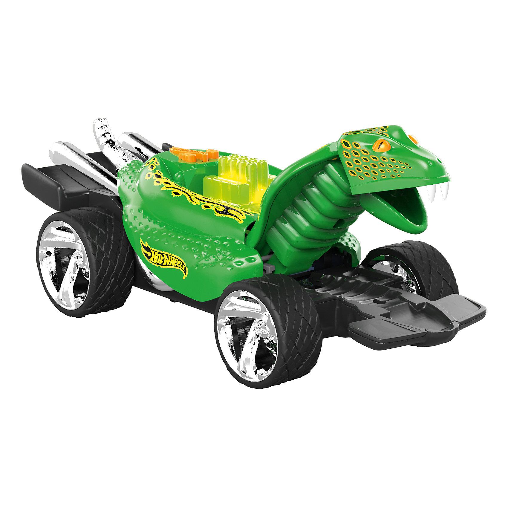 Электромеханическая машинка Питон зеленый, 23 см, Hot WheelsМашинка-монстр Хот Вилс электромеханическая, на батарейках, свет+звук.<br><br>Характеристики гоночной машинки в виде питона Hot Wheels:<br><br>• световые эффекты: мигающие лампочки;<br>• звуковые эффекты: работающий мотор, лязг шин;<br>• внешний вид: огромный корпус-питон, хромированные диски;<br>• функциональность модели: подвижная голова питона;<br>• электронная модель: работает от батареек;<br>• батарейки входят в комплект: 3 шт. типа ААА;<br>• длина машинки: 23 см;<br>• размер упаковки: 27,3х12,7х12,7 см;<br>• вес упаковки: 454 г.<br><br>Скоростные гонки, жажда скорости, молниеносный старт – гоночные машинки Hot Wheels порадуют мальчишек агрессивным видом и оформлением кузова в виде питона Машинка Hot Wheels с электромеханической подвеской имеет колеса разного диаметра: передние колеса меньшего диаметра, а задние колеса большего диаметра. <br><br>Электромеханическую машинку Питон зеленый, 23 см, Hot Wheels можно купить в нашем интернет-магазине.<br><br>Ширина мм: 270<br>Глубина мм: 130<br>Высота мм: 130<br>Вес г: 507<br>Возраст от месяцев: 36<br>Возраст до месяцев: 2147483647<br>Пол: Мужской<br>Возраст: Детский<br>SKU: 5066702