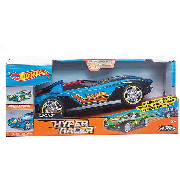 Машинка Hot Wheels - Yur So Fast (свет, звук, меняет цвет), 25 смМашинки<br>Характеристики товара:<br><br>- цвет: желтый;<br>- материал: пластик, металл;<br>- особенности: меняет цвет при движении, со звуковыми и световыми эффектами;<br>- вес: 600 г;<br>- размер упаковки: 31х13х13;<br>- батарейки 3хААA;<br>- размер машинки: 25 см.<br><br>Какой мальчишка откажется поиграть с машинкой Hot Wheels, которая выглядит как настоящая?! Машинка меняет цвет при движении и запускается нажатием кнопки. Игрушка отлично детализирована, очень качественно выполнена, поэтому она станет отличным подарком ребенку. Продается в красивой упаковке.<br>Изделия произведены из высококачественного материала, безопасного для детей.<br><br>Электромеханическую машинку Hot Wheels можно купить в нашем интернет-магазине.<br><br>Ширина мм: 310<br>Глубина мм: 130<br>Высота мм: 130<br>Вес г: 588<br>Возраст от месяцев: 36<br>Возраст до месяцев: 2147483647<br>Пол: Мужской<br>Возраст: Детский<br>SKU: 5066703
