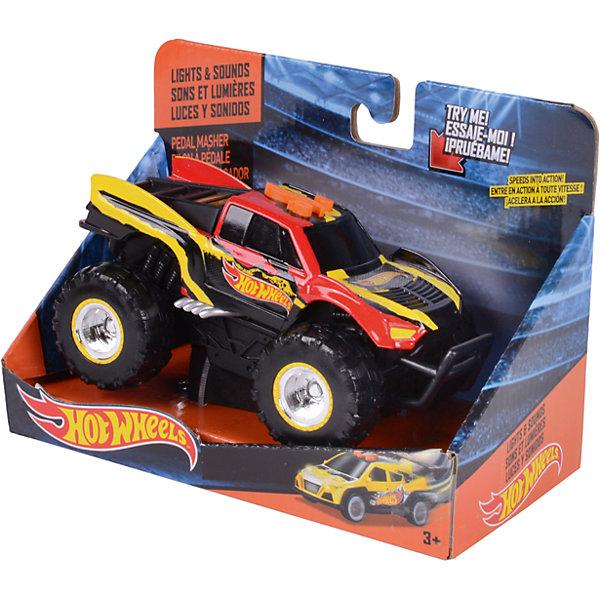 Электромеханическая машинка, красно-жёлтая, 14 см, Hot WheelsМашинки<br>Характеристики товара:<br><br>- цвет: красно-желтый;<br>- материал: пластик, металл;<br>- особенности:электромеханическая, со звуковыми и световыми эффектами;<br>- вес: 250 г;<br>- размер упаковки: 9х13х18;<br>- батарейки 3хААA;<br>- размер машинки: 14 см.<br><br>Какой мальчишка откажется поиграть с машинкой Hot Wheels, которая выглядит как настоящая?! Машинка очень эффектно смотрится, она запускается нажатием кнопки. Игрушка отлично детализирована, очень качественно выполнена, поэтому она станет отличным подарком ребенку. Продается в красивой упаковке.<br>Изделия произведены из высококачественного материала, безопасного для детей.<br><br>Электромеханическую машинку Hot Wheels можно купить в нашем интернет-магазине.<br><br>Ширина мм: 89<br>Глубина мм: 127<br>Высота мм: 178<br>Вес г: 245<br>Возраст от месяцев: 36<br>Возраст до месяцев: 2147483647<br>Пол: Мужской<br>Возраст: Детский<br>SKU: 5066709