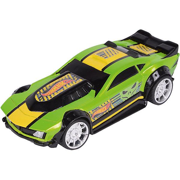 Машинка Freeway Flyer - Drift Rod (свет, звук), зеленая, 14 см, Hot WheelsМашинки<br>Характеристики товара:<br><br>- цвет: зеленый;<br>- материал: пластик, металл;<br>- особенности: инерционная, со световыми эффектами;<br>- вес: 200 г;<br>- размер упаковки: 9х13х18;<br>- размер машинки: 14 см.<br><br>Какой мальчишка откажется поиграть с коллекционной машинкой Hot Wheels, которая выглядит как настоящая?! Машинка очень эффектно смотрится, она дополнена световыми эффектами и инерционным механизмом. Игрушка отлично детализирована, очень качественно выполнена, поэтому она станет отличным подарком ребенку. Продается в красивой упаковке.<br>Изделия произведены из высококачественного материала, безопасного для детей.<br><br>Механическую машинку Hot Wheels можно купить в нашем интернет-магазине.<br><br>Ширина мм: 89<br>Глубина мм: 127<br>Высота мм: 178<br>Вес г: 184<br>Возраст от месяцев: 36<br>Возраст до месяцев: 2147483647<br>Пол: Мужской<br>Возраст: Детский<br>SKU: 5066713