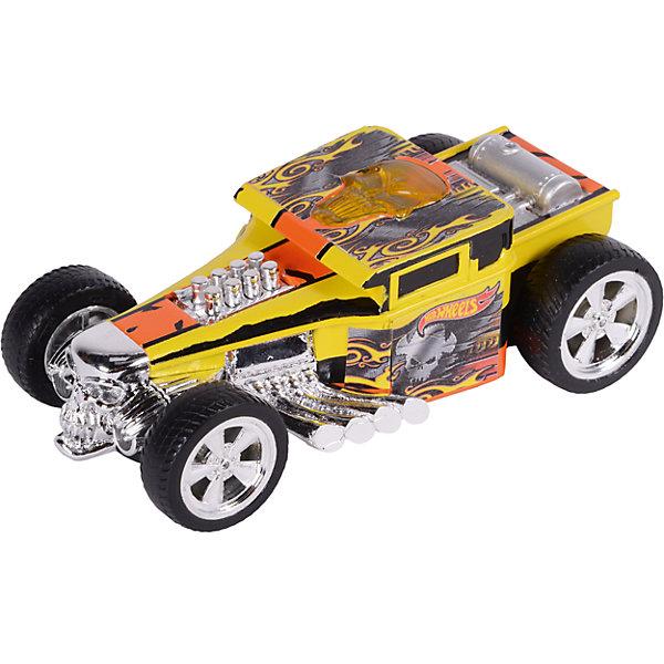 Машина Freeway Flyer - Bone Shaker (свет), желтая, 14 см, Hot WheelsМашинки<br>Характеристики товара:<br><br>- цвет: желтый;<br>- материал: пластик, металл;<br>- особенности: инерционная, со световыми эффектами;<br>- вес: 200 г;<br>- размер упаковки: 9х13х18;<br>- размер машинки: 14 см.<br><br>Какой мальчишка откажется поиграть с коллекционной машинкой Hot Wheels, которая выглядит как настоящая?! Машинка очень эффектно смотрится, она дополнена световыми эффектами и инерционным механизмом. Игрушка отлично детализирована, очень качественно выполнена, поэтому она станет отличным подарком ребенку. Продается в красивой упаковке.<br>Изделия произведены из высококачественного материала, безопасного для детей.<br><br>Механическую машинку Hot Wheels можно купить в нашем интернет-магазине.<br><br>Ширина мм: 89<br>Глубина мм: 127<br>Высота мм: 178<br>Вес г: 184<br>Возраст от месяцев: 36<br>Возраст до месяцев: 2147483647<br>Пол: Мужской<br>Возраст: Детский<br>SKU: 5066714