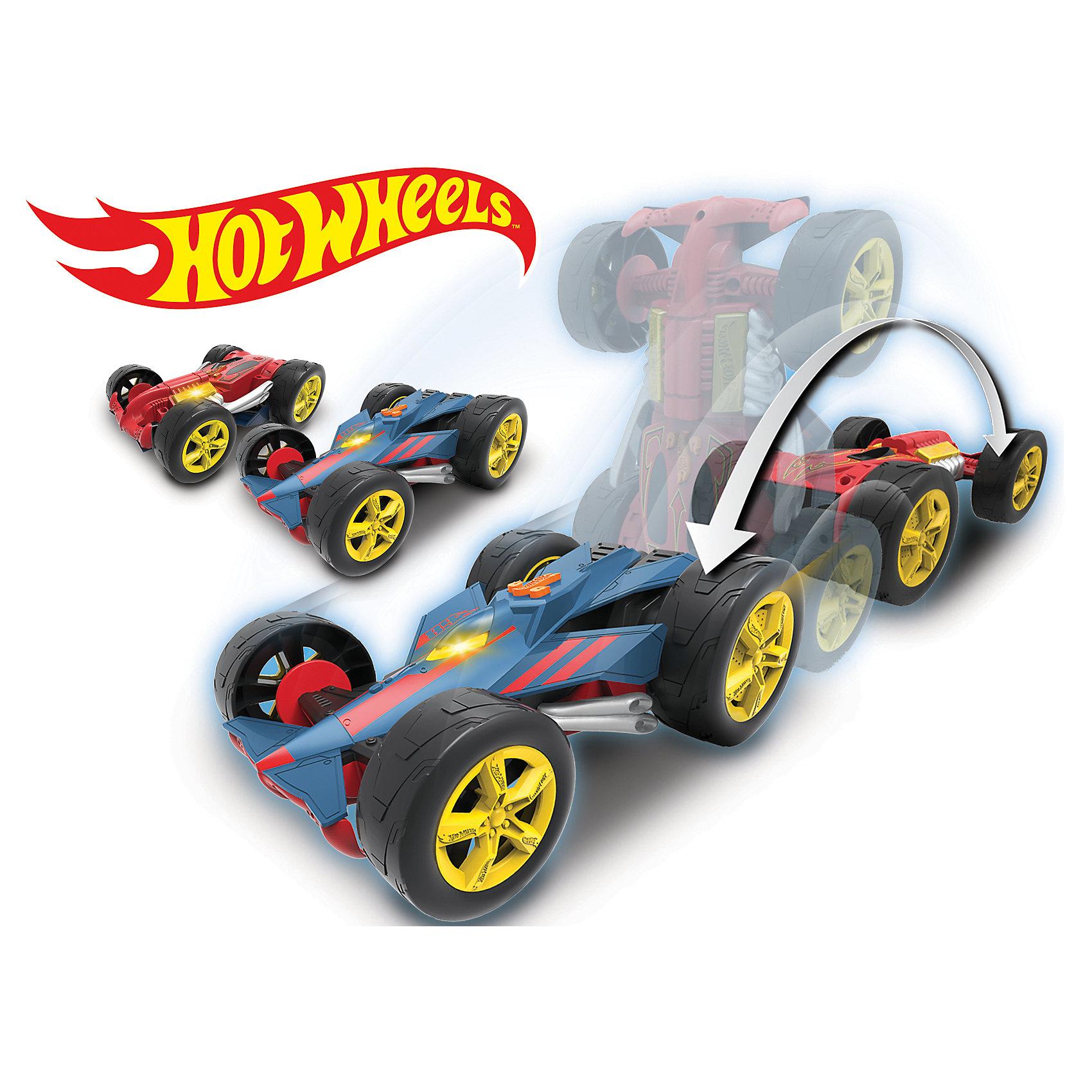 Машинка - Перевертыш 2 в 1 (свет, звук), 20 см Hot WheelsПопулярные игрушки<br>Характеристики товара:<br><br>- цвет: разноцветный;<br>- материал: пластик, металл;<br>- особенности: на батарейках, со звуковыми и световыми эффектами, во время движения она переворачивается то одной, то другой стороной корпуса вверх;<br>- вес: 700 г;<br>- размер упаковки: 10х26х18;<br>- батарейки: демонстрационные в комплекте 4хАА;<br>- размер машинки: 20 см.<br><br>Какой мальчишка откажется поиграть с коллекционной машинкой Hot Wheels, которая выглядит как настоящая?! Машинка очень эффектно смотрится, она запускается нажатием кнопки. Игрушка отлично детализирована, очень качественно выполнена, поэтому она станет отличным подарком ребенку. Продается в красивой упаковке.<br>Изделия произведены из высококачественного материала, безопасного для детей.<br><br>Электромеханическую машинку Hot Wheels можно купить в нашем интернет-магазине.<br><br>Ширина мм: 104<br>Глубина мм: 178<br>Высота мм: 255<br>Вес г: 697<br>Возраст от месяцев: 36<br>Возраст до месяцев: 2147483647<br>Пол: Мужской<br>Возраст: Детский<br>SKU: 5066719