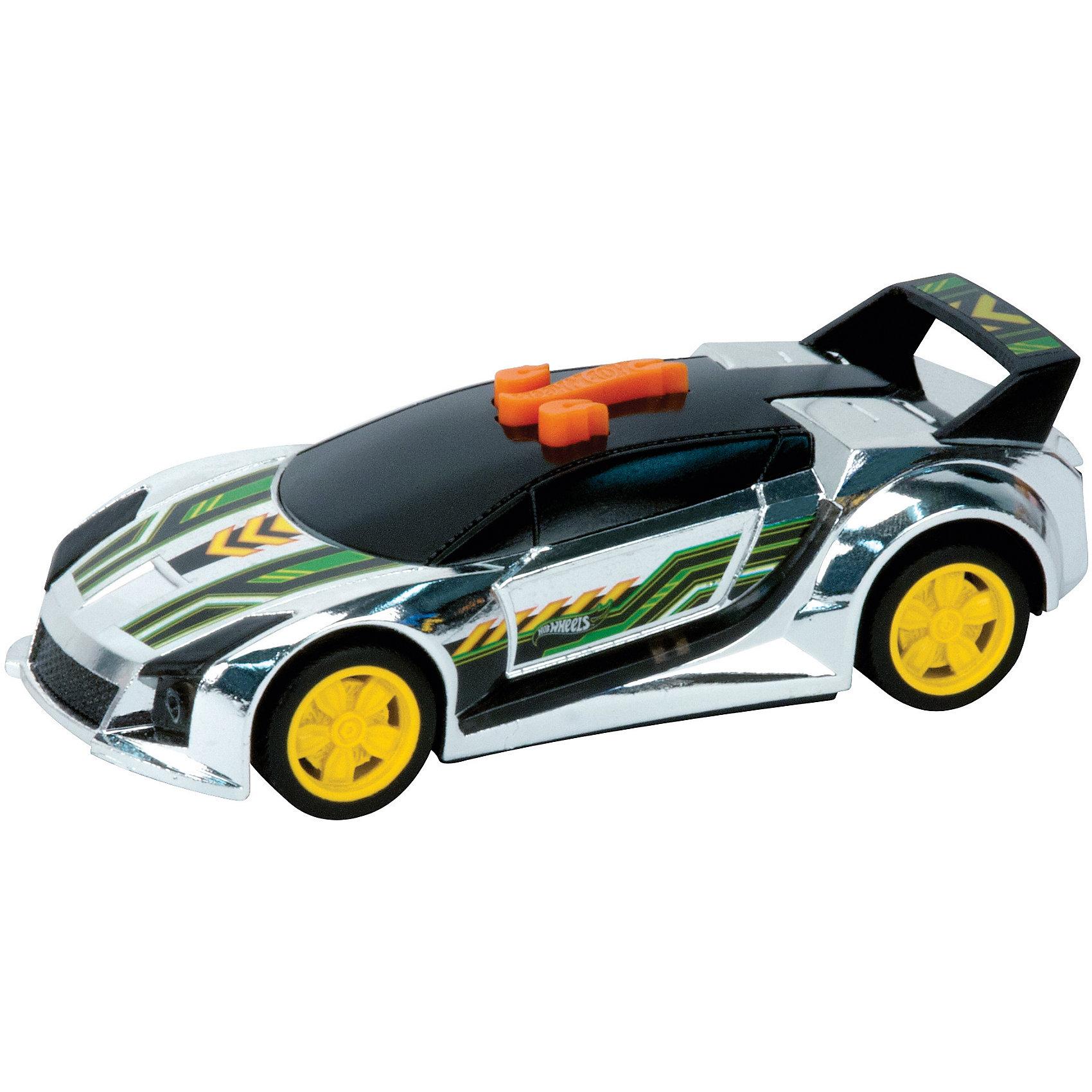 Машинка - Quick 'N Sik (свет, звук), 13,5 см, Hot WheelsХарактеристики товара:<br><br>- цвет: разноцветный;<br>- материал: пластик, металл;<br>- особенности: на батарейках, со звуковыми и световыми эффектами;<br>- вес: 160 г;<br>- размер упаковки: 9х13х18;<br>- батарейки: демонстрационные в комплекте;<br>- размер машинки: 13,5 см.<br><br>Какой мальчишка откажется поиграть с коллекционной машинкой Hot Wheels, которая выглядит как настоящая?! Машинка очень эффектно смотрится, она запускается нажатием кнопки. Игрушка отлично детализирована, очень качественно выполнена, поэтому она станет отличным подарком ребенку. Продается в красивой упаковке.<br>Изделия произведены из высококачественного материала, безопасного для детей.<br><br>Машинку Черный спойлер Hot Wheels можно купить в нашем интернет-магазине.<br><br>Ширина мм: 89<br>Глубина мм: 127<br>Высота мм: 158<br>Вес г: 166<br>Возраст от месяцев: 36<br>Возраст до месяцев: 2147483647<br>Пол: Мужской<br>Возраст: Детский<br>SKU: 5066723