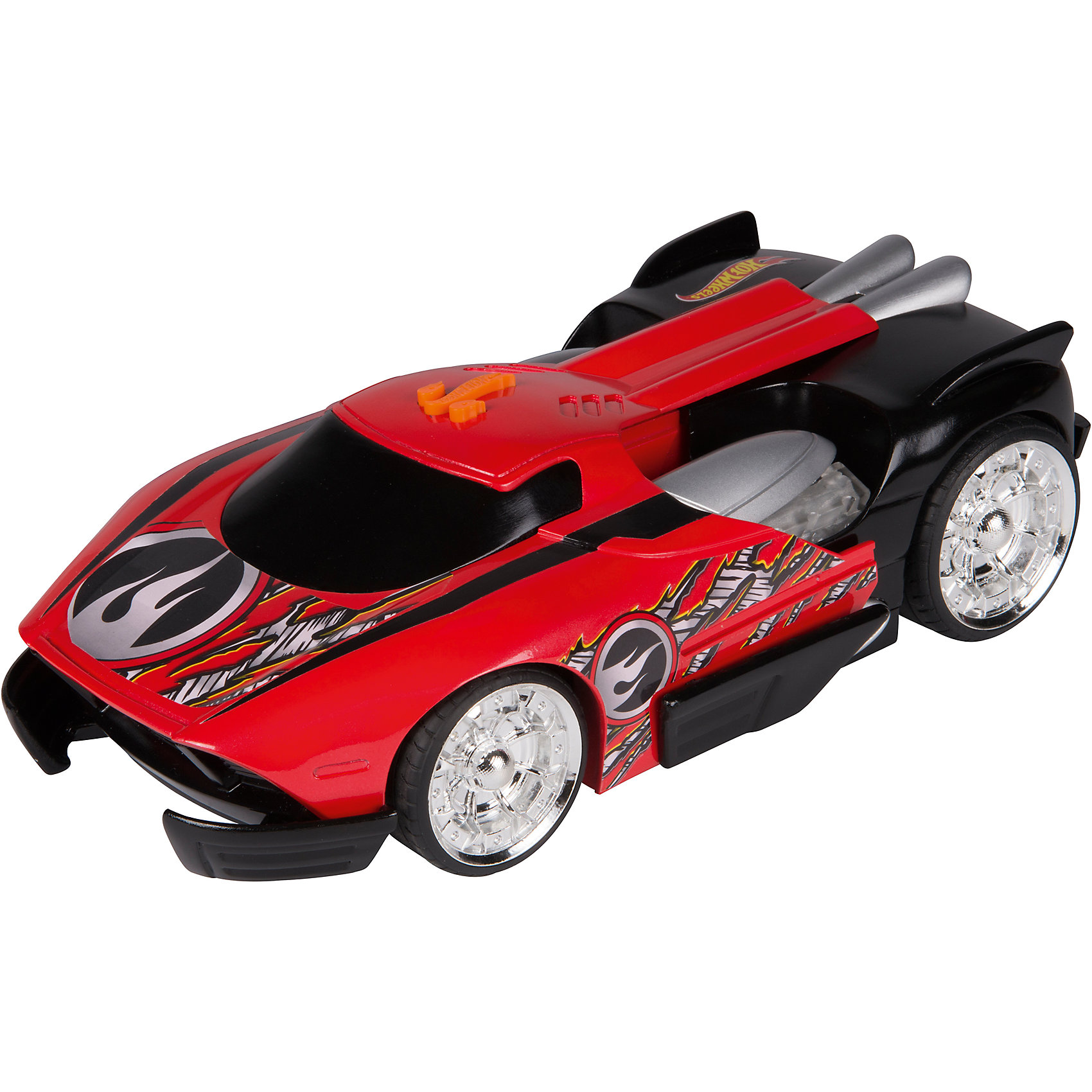 Электромеханическая машинка, красная, 33 см, Hot WheelsМашинки<br>Характеристики товара:<br><br>- цвет: красный;<br>- материал: пластик, металл;<br>- особенности: со световыми и звуковыми эффектами;<br>- вес: 500 г;<br>- батарейки 3хААА;<br>- размер упаковки: 30х17х19;<br>- размер машинки: 33 см.<br><br>Какой мальчишка откажется поиграть с коллекционной машинкой Hot Wheels, которая выглядит как настоящая?! Машинка очень эффектно смотрится, она дополнена световыми, звуковыми эффектами и электроприводом. Игрушка отлично детализирована, очень качественно выполнена, поэтому она станет отличным подарком ребенку. Продается в красивой упаковке.<br>Изделия произведены из высококачественного материала, безопасного для детей.<br><br>Электромеханическую машинку Hot Wheels можно купить в нашем интернет-магазине.<br><br>Ширина мм: 360<br>Глубина мм: 170<br>Высота мм: 190<br>Вес г: 1013<br>Возраст от месяцев: 36<br>Возраст до месяцев: 2147483647<br>Пол: Мужской<br>Возраст: Детский<br>SKU: 5066728