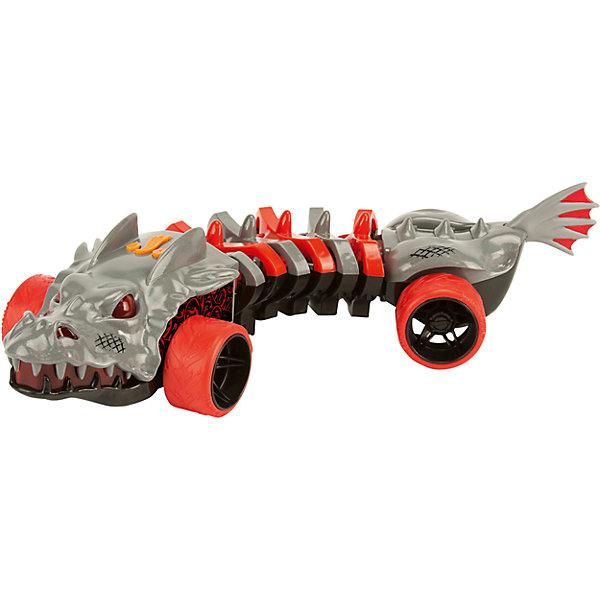 Интерактивная машина Хот Вилс Машинки-мутанты - Дракон (свет, звук)Машинки<br>Характеристики товара:<br><br>- цвет: серый;<br>- материал: пластик, металл;<br>- особенности: со световыми и звуковыми эффектами;<br>- вес: 700 г;<br>- батарейки 3хААА;<br>- размер упаковки: 36х13х14;<br>- размер машинки: 32 см.<br><br>Какой мальчишка откажется поиграть с коллекционной машинкой Hot Wheels, которая выглядит как настоящая?! Машинка очень эффектно смотрится, она дополнена световыми, звуковыми эффектами и электроприводом. Игрушка отлично детализирована, очень качественно выполнена, поэтому она станет отличным подарком ребенку. Продается в красивой упаковке.<br>Изделия произведены из высококачественного материала, безопасного для детей.<br><br>Электромеханическую машинку Hot Wheels можно купить в нашем интернет-магазине.<br><br>Ширина мм: 360<br>Глубина мм: 130<br>Высота мм: 150<br>Вес г: 758<br>Возраст от месяцев: 36<br>Возраст до месяцев: 2147483647<br>Пол: Мужской<br>Возраст: Детский<br>SKU: 5066730