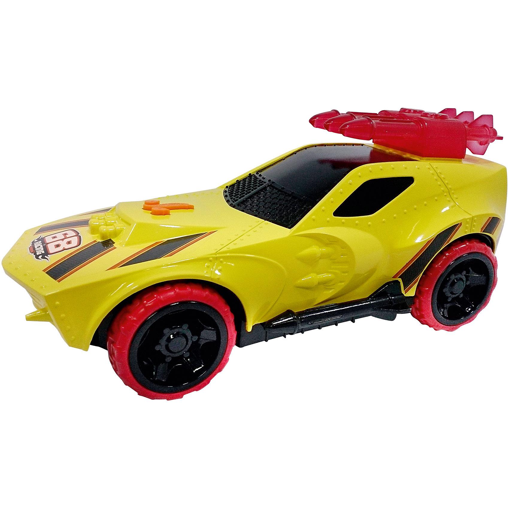 Машинка Master Blaster - Sting Rod II (свет, звук), желтая, 27 см, Hot WheelsХарактеристики товара:<br><br>- цвет: желтый;<br>- материал: пластик, металл;<br>- особенности: со световыми и звуковыми эффектами;<br>- вес: б00 г;<br>- на батарейках;<br>- размер упаковки: 30х17х16;<br>- размер машинки: 27 см.<br><br>Какой мальчишка откажется поиграть с коллекционной машинкой Hot Wheels, которая выглядит как настоящая?! Машинка очень эффектно смотрится, она дополнена световыми и звуковыми эффектами, работает на батарейках. Игрушка отлично детализирована, очень качественно выполнена, поэтому она станет отличным подарком ребенку. Продается в красивой упаковке.<br>Изделия произведены из высококачественного материала, безопасного для детей.<br><br>Машинку на батарейках Hot Wheels можно купить в нашем интернет-магазине.<br><br>Ширина мм: 150<br>Глубина мм: 165<br>Высота мм: 305<br>Вес г: 648<br>Возраст от месяцев: 36<br>Возраст до месяцев: 2147483647<br>Пол: Мужской<br>Возраст: Детский<br>SKU: 5066739