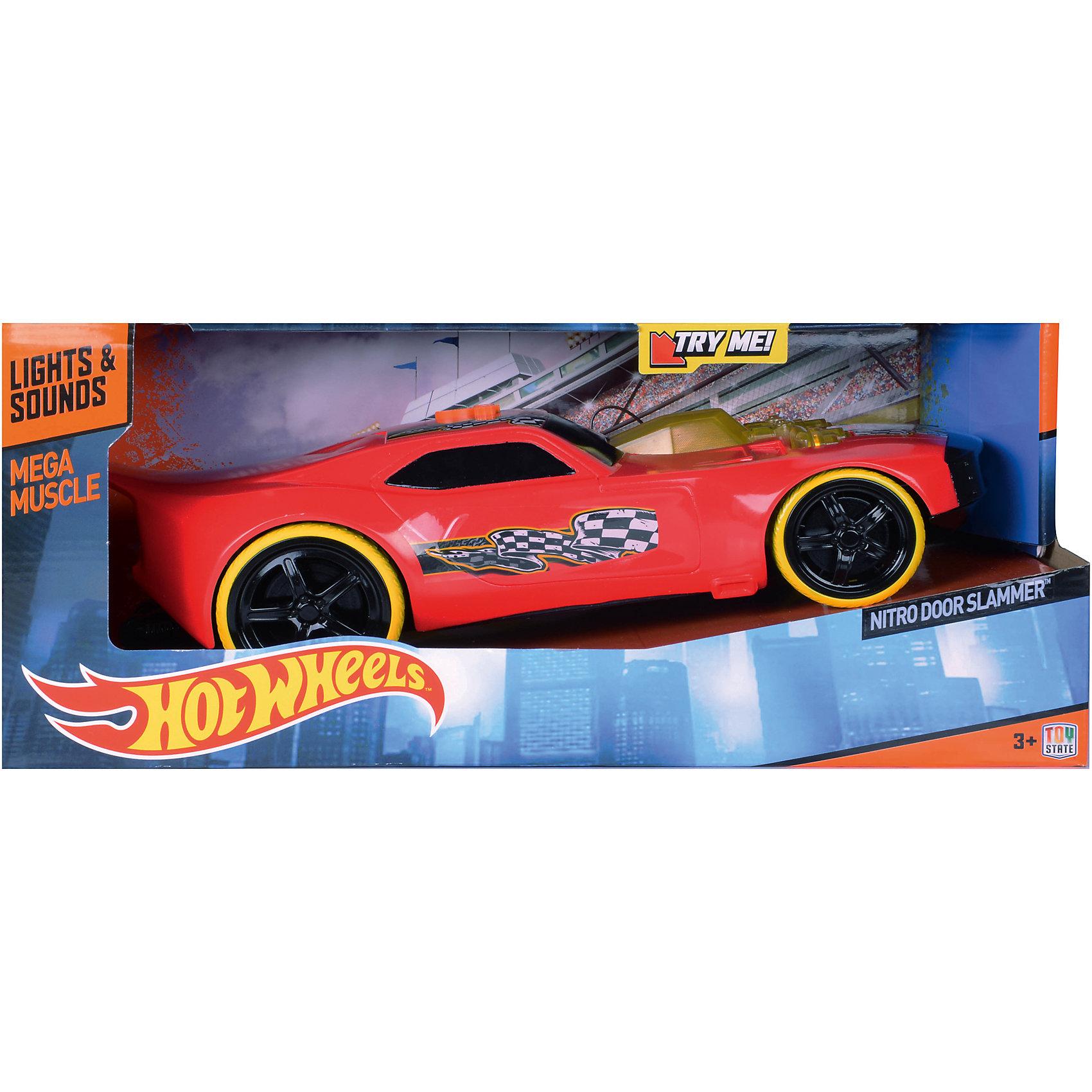 Машинка на батарейках, красная, 32,5 см, Hot Wheels