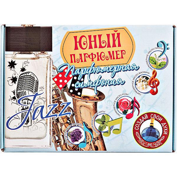 Набор Юный Парфюмер, Парфюмерная симфония ДжазНаборы для создания парфюмерии<br>Набор Юный Парфюмер Парфюмерная симфония Джаз (с натуральными маслами пачули, жасмина, розы, мяты, лаванды, основой для духов и лабораторной посудой создай свою неповторимую симфонию )<br>Ширина мм: 255; Глубина мм: 185; Высота мм: 50; Вес г: 218; Возраст от месяцев: 96; Возраст до месяцев: 168; Пол: Унисекс; Возраст: Детский; SKU: 5067639;