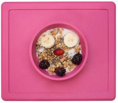 Тарелка глубокая с подставкой Happy Bowl, 240 мл., ezpz, розовый
