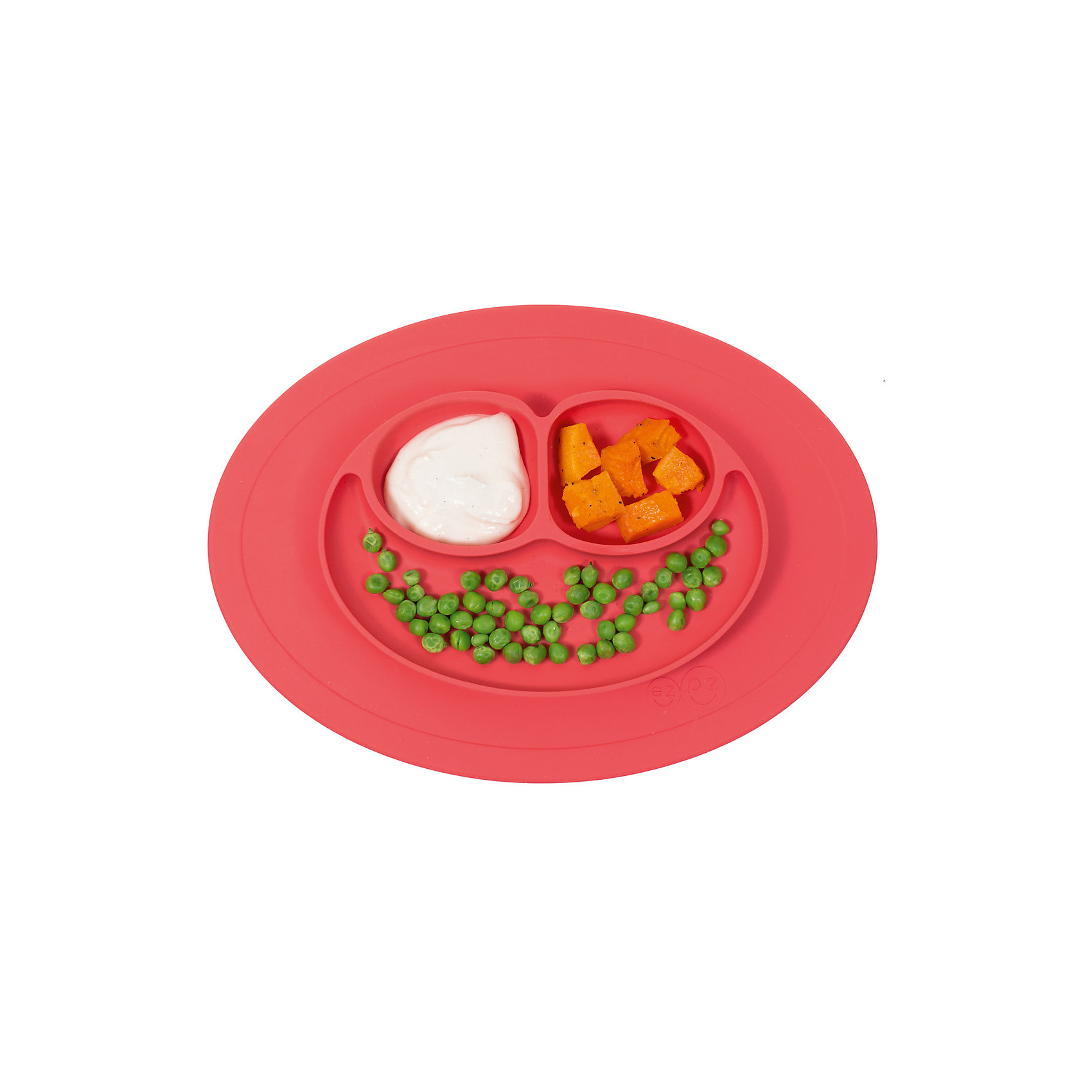 Тарелка с подставкой Mini Mat, ezpz, коралловыйПосуда для малышей<br>Тарелка с подставкой Mini Mat, ezpz, коралловый.<br><br>Характеристики:<br>• изготовлена из качественного пищевого силикона<br>• надежно крепится к столу<br>• 3 отсека для еды<br>• удобно брать с собой<br>• подходит для посудомоечной машины и микроволновой печи<br>• не содержит бисфенол, свинец, фталаты, поливинилхлорид<br>• приятный дизайн<br>• состав: 100% силикон<br>• размер: 21,5х19,5х2,5 см<br>• объем: 240 мл<br>• цвет: коралловый<br><br>Тарелка с подставкой Mini Mat, ezpz пригодится, если в доме живут маленькие непоседы. Тарелка имеет 3 глубоких отсека, что позволяет подавать еду раздельно. Вы сможете одновременно подать к столу мясо, гарнир и фрукты, не пачкая лишнюю посуду. Дно тарелки надежно крепится к плоской поверхности - вы можете не переживать, что малыш опрокинет еду и обожжется. Небольшой размер позволит брать тарелку с собой в дорогу. Приятный дизайн тарелки понравится ребенку, и он обязательно будет есть с аппетитом!<br><br><br>Вы можете купить тарелку с подставкой Mini Mat, ezpz, коралловый в нашем интернет-магазине.<br><br>Ширина мм: 210<br>Глубина мм: 25<br>Высота мм: 195<br>Вес г: 323<br>Возраст от месяцев: 0<br>Возраст до месяцев: 36<br>Пол: Унисекс<br>Возраст: Детский<br>SKU: 5068713