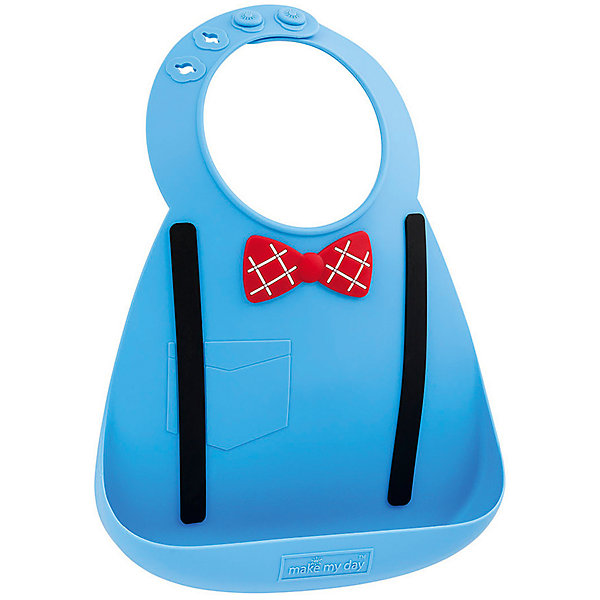 Нагрудник Make my day, синийНагрудники и салфетки<br>Нагрудник Make my day, синий.<br><br>Характеристики:<br>• изготовлен из качественного гипоаллергенного силикона<br>• имеет удобный карман для крошек и кусочков пищи<br>• не содержит фталаты, бисфенол-А и ПВХ<br>• регулируемая застежка<br>• легко моется и подходит для посудомоечной машины<br>• высокая гибкость <br>• оригинальный дизайн<br>• состав: 100% пищевой силикон<br>• размер: 24х21 см<br>• размер упаковки: 24,5x21x4,5 см<br>• цвет: синий<br><br>Нагрудник Make my day изготовлен из высококачественного пищевого силикона и имеет регулируемую застежку, благодаря чему нагрудник не натирает нежную кожу шеи малыша. Вместительный карман снизу защитит одежду ребенка от попадания воды и пищи. Высокая гибкость нагрудника делает его компактным для хранения. Нагрудник легко отмывается водой с мылом или в посудомоечной машине. Приятный дизайн в виде пуговиц, галстука-бабочки и нагрудного кармана порадует и малыша, и взрослых. С таким очаровательным нагрудником каждый прием пищи будет в радость!<br><br>Нагрудник Make my day, синий можно купить в нашем интернет-магазине.<br><br>Ширина мм: 210<br>Глубина мм: 45<br>Высота мм: 245<br>Вес г: 289<br>Возраст от месяцев: 0<br>Возраст до месяцев: 36<br>Пол: Мужской<br>Возраст: Детский<br>SKU: 5068718