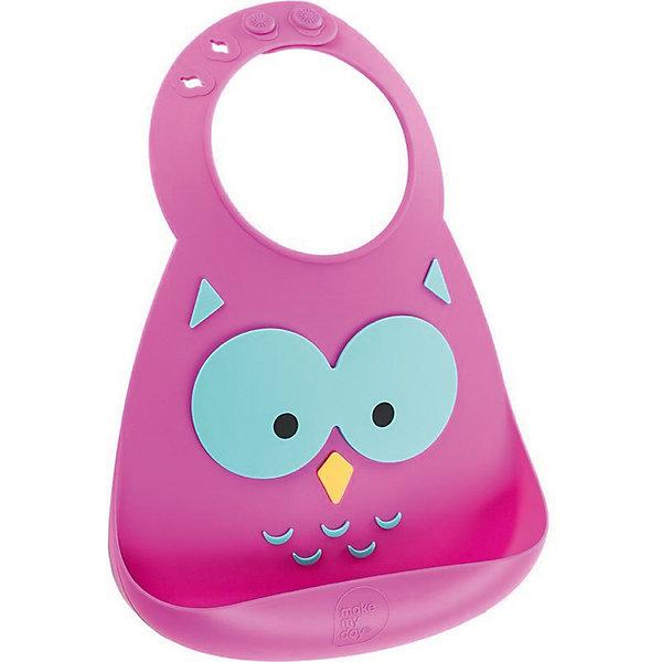 Нагрудник Make my day, OwlНагрудники и салфетки<br>Нагрудник Make my day, Owl.<br><br>Характеристики:<br>• изготовлен из качественного гипоаллергенного силикона<br>• имеет удобный карман для крошек и кусочков пищи<br>• не содержит фталаты, бисфенол-А и ПВХ<br>• регулируемая застежка<br>• легко моется и подходит для посудомоечной машины<br>• высокая гибкость <br>• оригинальный дизайн<br>• состав: 100% пищевой силикон<br>• размер: 24х21 см<br>• размер упаковки: 24,5x21x4,5 см<br>• цвет: розовый<br><br>Нагрудник Make my day изготовлен из высококачественного пищевого силикона и имеет регулируемую застежку, благодаря чему нагрудник не натирает нежную кожу шеи малыша. Вместительный карман снизу защитит одежду ребенка от попадания воды и пищи. Высокая гибкость нагрудника делает его компактным для хранения. Нагрудник легко отмывается водой с мылом или в посудомоечной машине. Приятный дизайн в виде веселой мордочки совы порадует и малыша, и взрослых. С таким очаровательным нагрудником каждый прием пищи будет в радость!<br><br>Нагрудник Make my day, Owl можно купить в нашем интернет-магазине.<br><br>Ширина мм: 210<br>Глубина мм: 45<br>Высота мм: 245<br>Вес г: 289<br>Возраст от месяцев: 0<br>Возраст до месяцев: 36<br>Пол: Унисекс<br>Возраст: Детский<br>SKU: 5068726