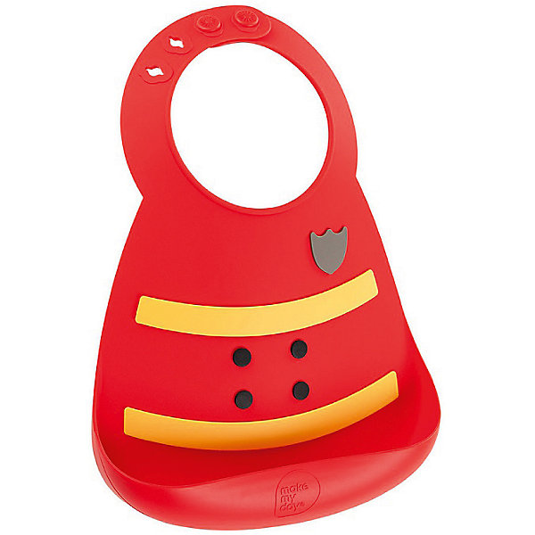 Нагрудник, Make my day, пожарный (Fireman)Нагрудники и салфетки<br>Нагрудник Make my day, пожарный (Fireman).<br><br>Характеристики:<br>• изготовлен из качественного гипоаллергенного силикона<br>• имеет удобный карман для крошек и кусочков пищи<br>• не содержит фталаты, бисфенол-А и ПВХ<br>• регулируемая застежка<br>• легко моется и подходит для посудомоечной машины<br>• высокая гибкость <br>• оригинальный дизайн<br>• состав: 100% пищевой силикон<br>• размер: 24х21 см<br>• размер упаковки: 24,5x21x4,5 см<br>• цвет: красный/желтый<br><br>Нагрудник Make my day изготовлен из высококачественного пищевого силикона и имеет регулируемую застежку, благодаря чему нагрудник не натирает нежную кожу шеи малыша. Вместительный карман снизу защитит одежду ребенка от попадания воды и пищи. Высокая гибкость нагрудника делает его компактным для хранения. Нагрудник легко отмывается водой с мылом или в посудомоечной машине. Приятный дизайн в виде формы пожарного порадует и малыша, и взрослых. С таким очаровательным нагрудником каждый прием пищи будет в радость!<br><br>Нагрудник Make my day, пожарный (Fireman) можно купить в нашем интернет-магазине.<br>Ширина мм: 210; Глубина мм: 45; Высота мм: 245; Вес г: 289; Возраст от месяцев: 0; Возраст до месяцев: 36; Пол: Мужской; Возраст: Детский; SKU: 5068729;