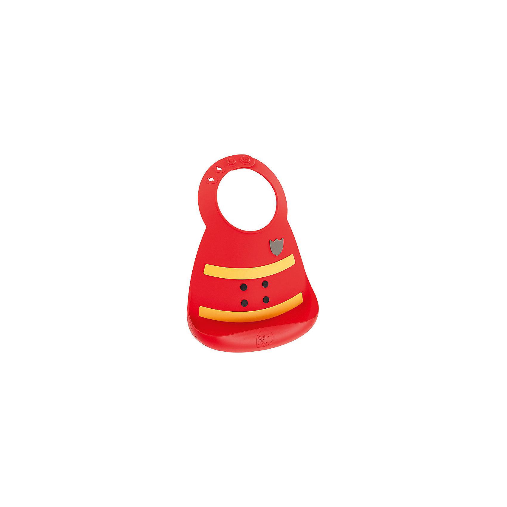 Нагрудник, Make my day, пожарный (Fireman)Нагрудник Make my day, пожарный (Fireman).<br><br>Характеристики:<br>• изготовлен из качественного гипоаллергенного силикона<br>• имеет удобный карман для крошек и кусочков пищи<br>• не содержит фталаты, бисфенол-А и ПВХ<br>• регулируемая застежка<br>• легко моется и подходит для посудомоечной машины<br>• высокая гибкость <br>• оригинальный дизайн<br>• состав: 100% пищевой силикон<br>• размер: 24х21 см<br>• размер упаковки: 24,5x21x4,5 см<br>• цвет: красный/желтый<br><br>Нагрудник Make my day изготовлен из высококачественного пищевого силикона и имеет регулируемую застежку, благодаря чему нагрудник не натирает нежную кожу шеи малыша. Вместительный карман снизу защитит одежду ребенка от попадания воды и пищи. Высокая гибкость нагрудника делает его компактным для хранения. Нагрудник легко отмывается водой с мылом или в посудомоечной машине. Приятный дизайн в виде формы пожарного порадует и малыша, и взрослых. С таким очаровательным нагрудником каждый прием пищи будет в радость!<br><br>Нагрудник Make my day, пожарный (Fireman) можно купить в нашем интернет-магазине.<br><br>Ширина мм: 210<br>Глубина мм: 45<br>Высота мм: 245<br>Вес г: 289<br>Возраст от месяцев: 0<br>Возраст до месяцев: 36<br>Пол: Мужской<br>Возраст: Детский<br>SKU: 5068729