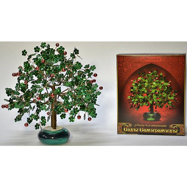 Набор для творчества Сады Семирамиды ЯблоняДеревья и картины из пайеток<br>Серия «Сады Семирамиды» представляют собой комплект необходимых<br>материалов, используя которые можно создать своё «Волшебное дерево» из каждого набора. Наборы предназначены для семейного творчества.<br><br>Ширина мм: 14<br>Глубина мм: 3<br>Высота мм: 17<br>Вес г: 380<br>Возраст от месяцев: 84<br>Возраст до месяцев: 192<br>Пол: Унисекс<br>Возраст: Детский<br>SKU: 5068870