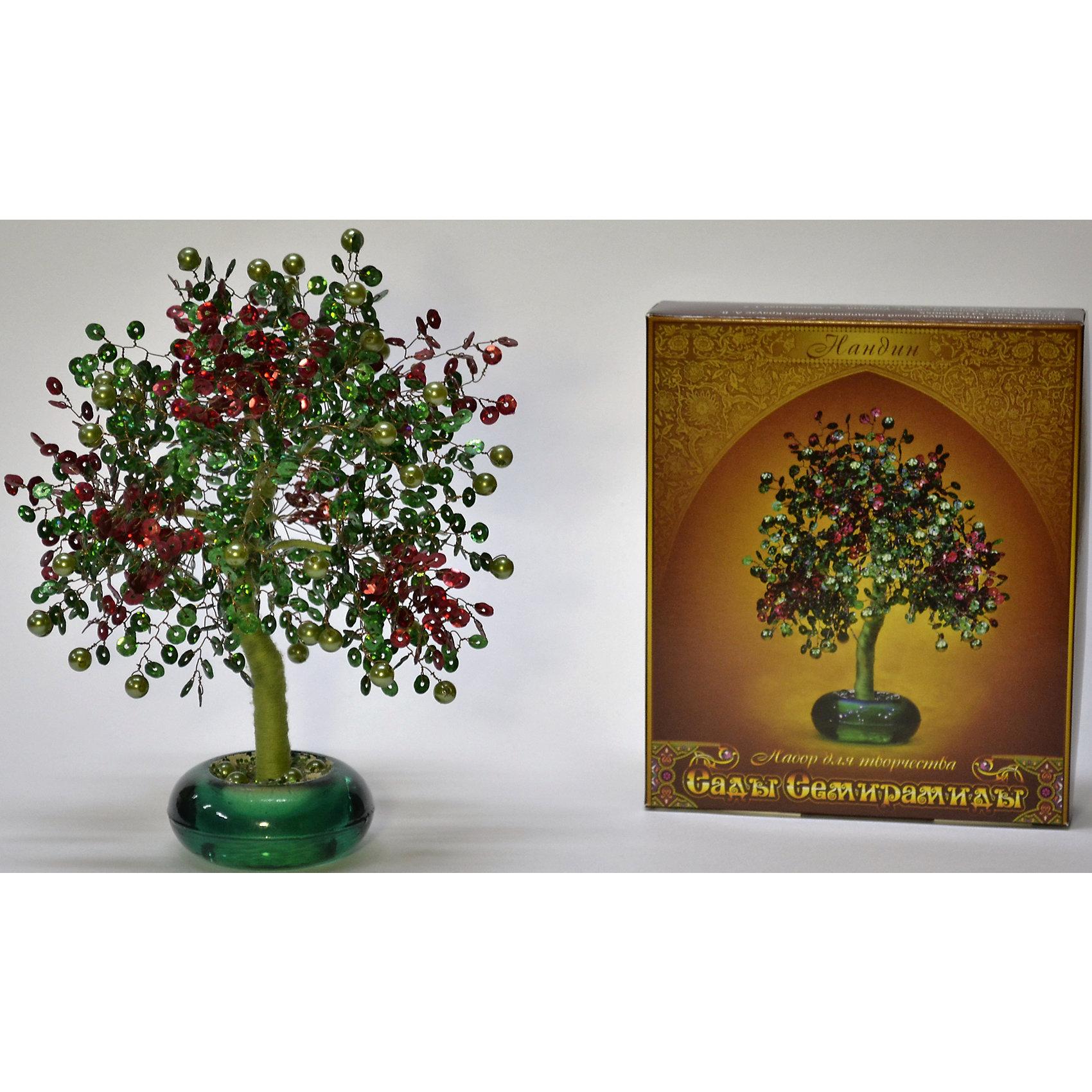 Набор для творчества Сады Семирамиды НандинДеревья и картины из пайеток<br>Серия «Сады Семирамиды» представляют собой комплект необходимых<br>материалов, используя которые можно создать своё «Волшебное дерево» из каждого набора. Наборы предназначены для семейного творчества.<br><br>Ширина мм: 14<br>Глубина мм: 3<br>Высота мм: 17<br>Вес г: 380<br>Возраст от месяцев: 84<br>Возраст до месяцев: 192<br>Пол: Унисекс<br>Возраст: Детский<br>SKU: 5068873
