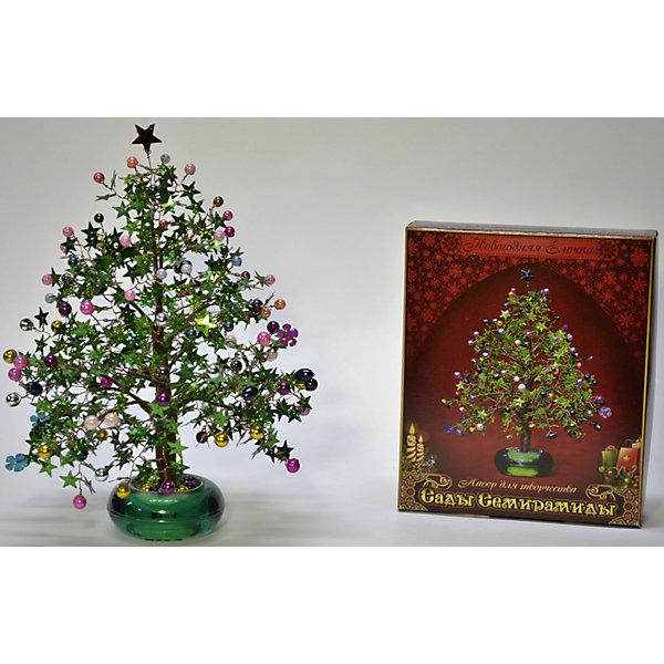 Набор для творчества Сады Семирамиды Новогодняя елочкаДеревья и картины из пайеток<br>Серия «Сады Семирамиды» представляют собой комплект необходимых<br>материалов, используя которые можно создать своё «Волшебное дерево» из каждого набора. Наборы предназначены для семейного творчества.<br><br>Ширина мм: 14<br>Глубина мм: 3<br>Высота мм: 17<br>Вес г: 380<br>Возраст от месяцев: 84<br>Возраст до месяцев: 192<br>Пол: Унисекс<br>Возраст: Детский<br>SKU: 5068879