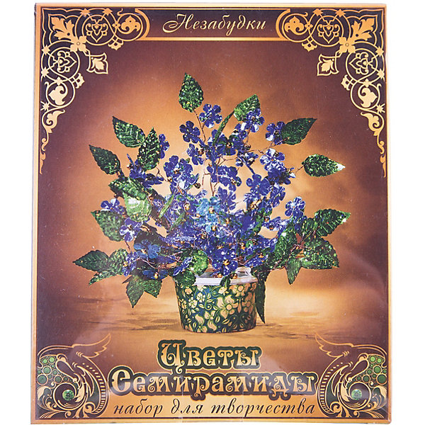 Набор для творчества Цветы Семирамиды НезабудкиДеревья и картины из пайеток<br>Серия «Цветы Семирамиды» представляют собой комплект необходимых<br>материалов, используя которые можно создать своё «Волшебный цветок» из каждого набора. Наборы предназначены для семейного творчества.<br>Ширина мм: 12; Глубина мм: 3; Высота мм: 14; Вес г: 90; Возраст от месяцев: 84; Возраст до месяцев: 192; Пол: Унисекс; Возраст: Детский; SKU: 5068885;